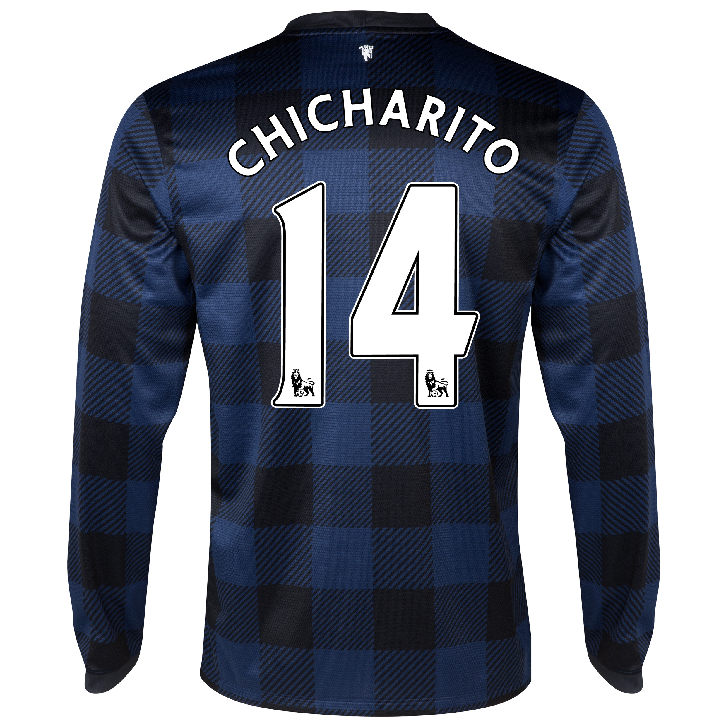 Manchester United Away Shirt 2013/14 - Long Sleeved with Chicharito 14 printing