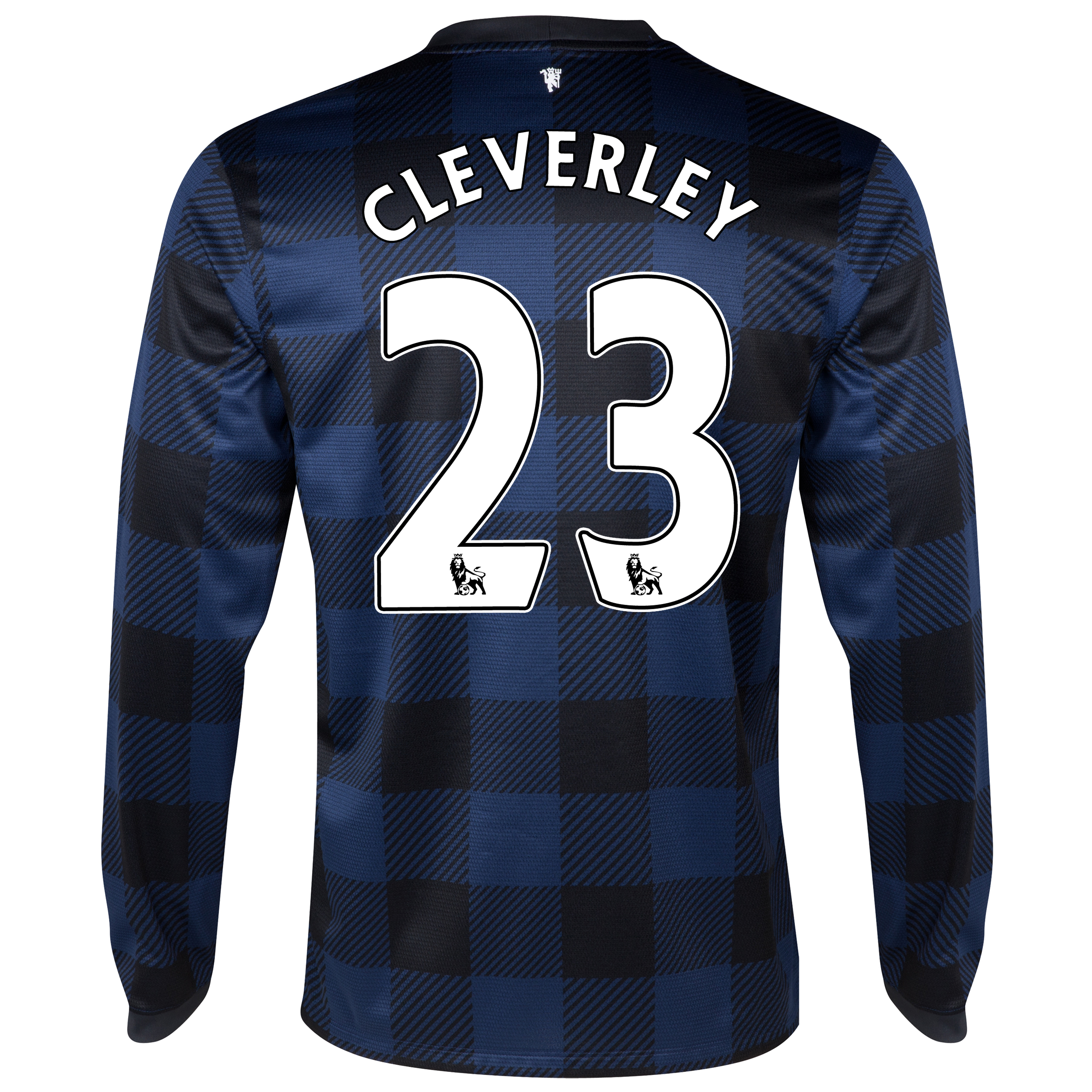 Manchester United Away Shirt 2013/14 - Long Sleeved with Cleverley 23 printing