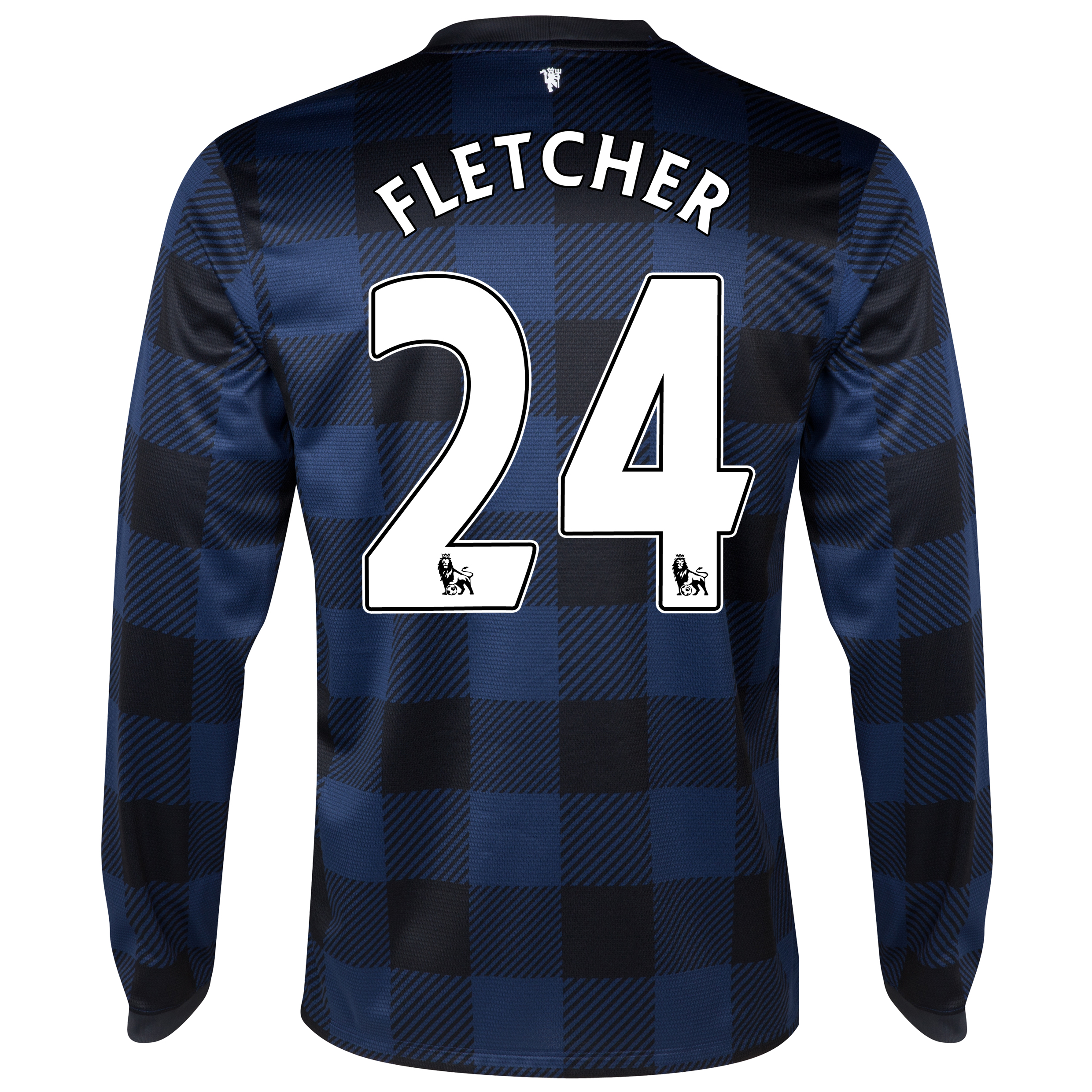 Manchester United Away Shirt 2013/14 - Long Sleeved with Fletcher 24 printing