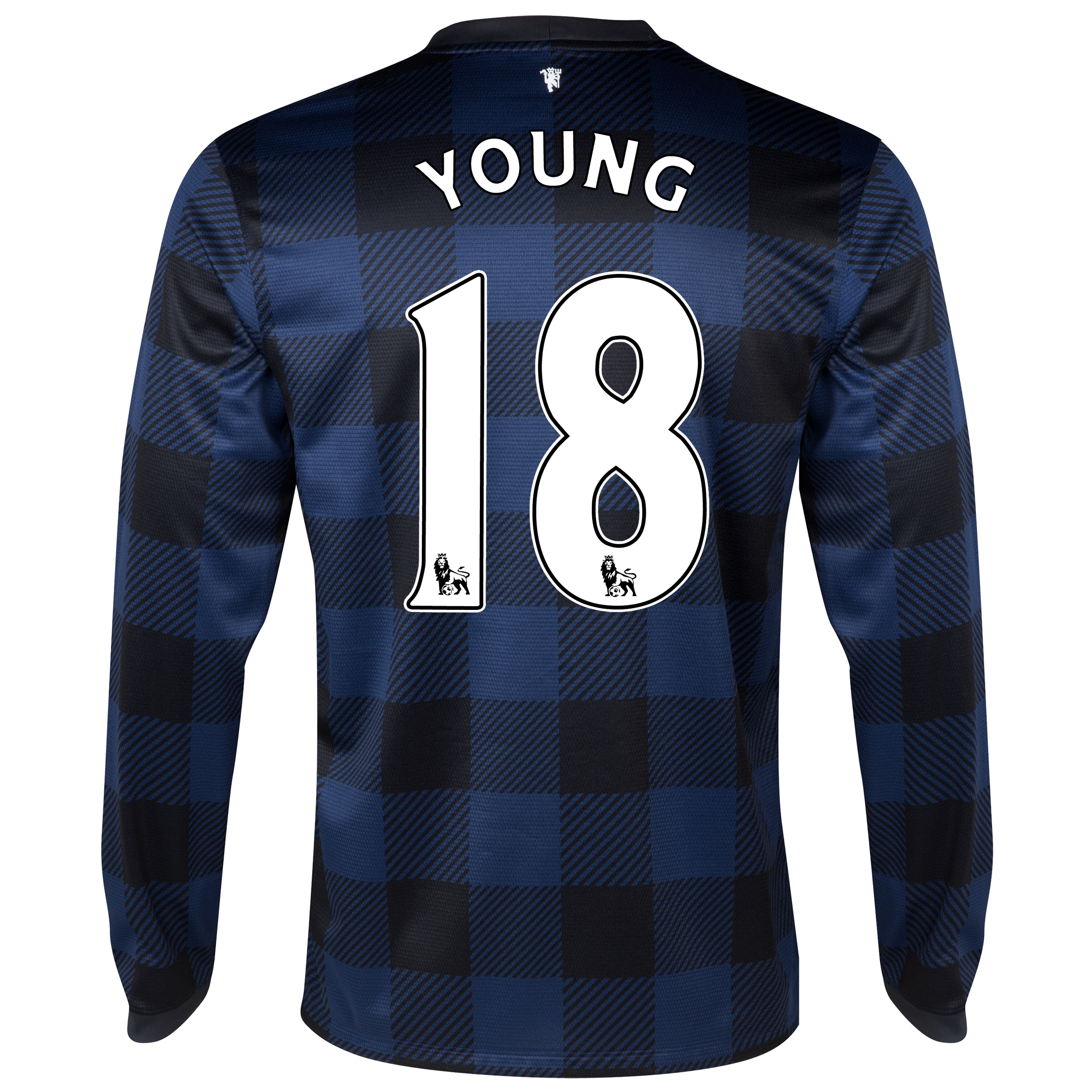 Manchester United Away Shirt 2013/14 - Long Sleeved - Kids with Young 18 printing