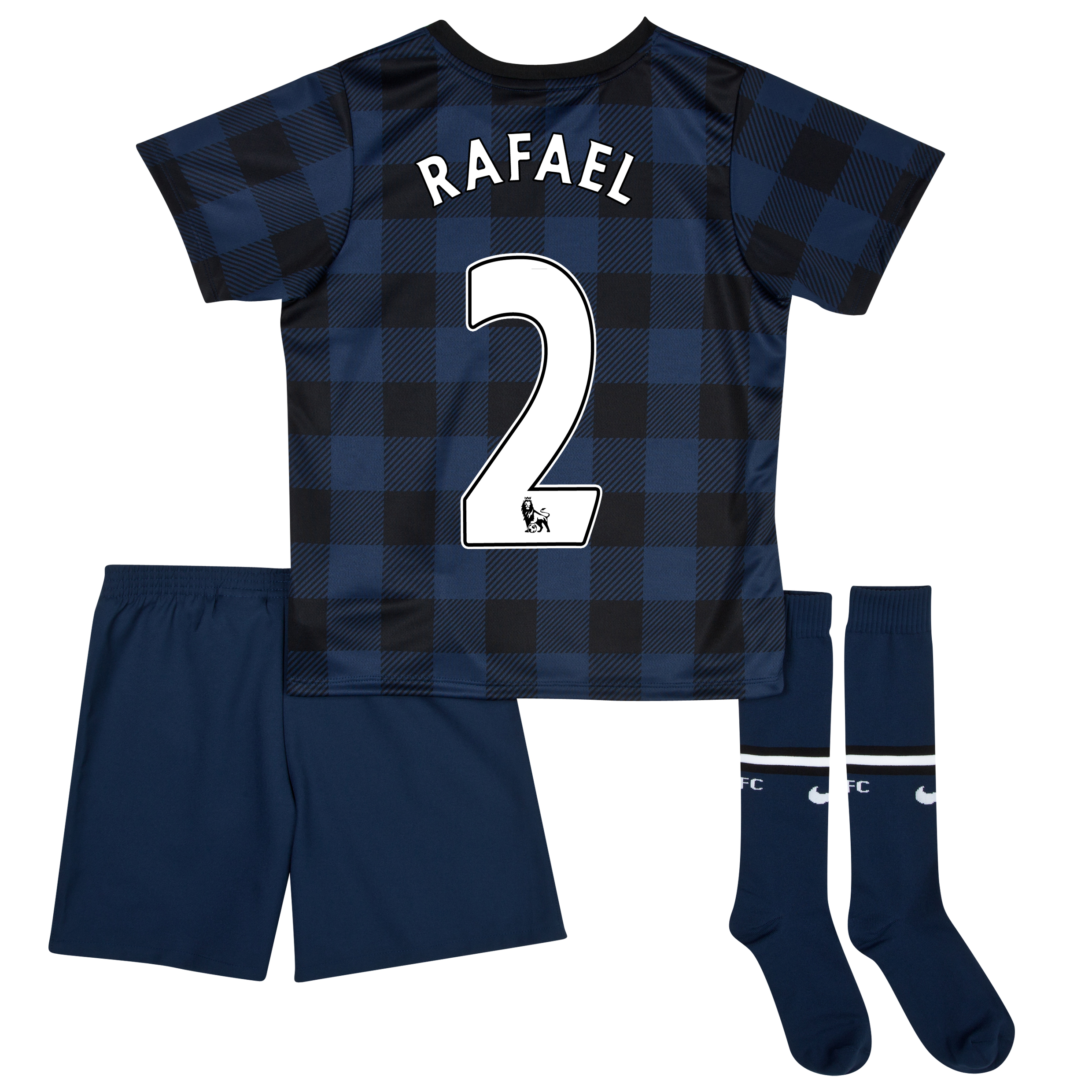 Manchester United Away Kit 2013/14 - Little Boys with Rafael 2 printing
