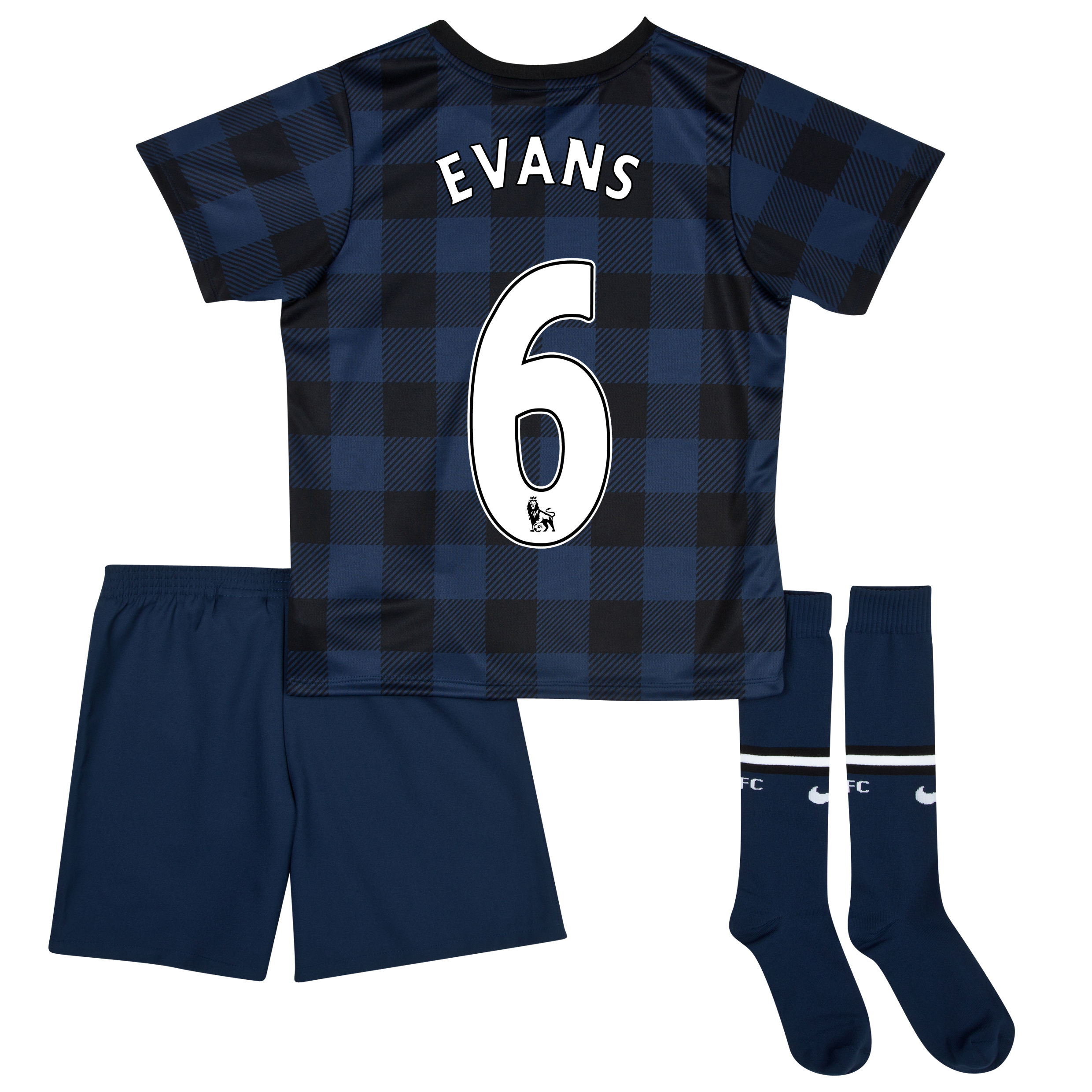 Manchester United Away Kit 2013/14 - Little Boys with Evans 6 printing
