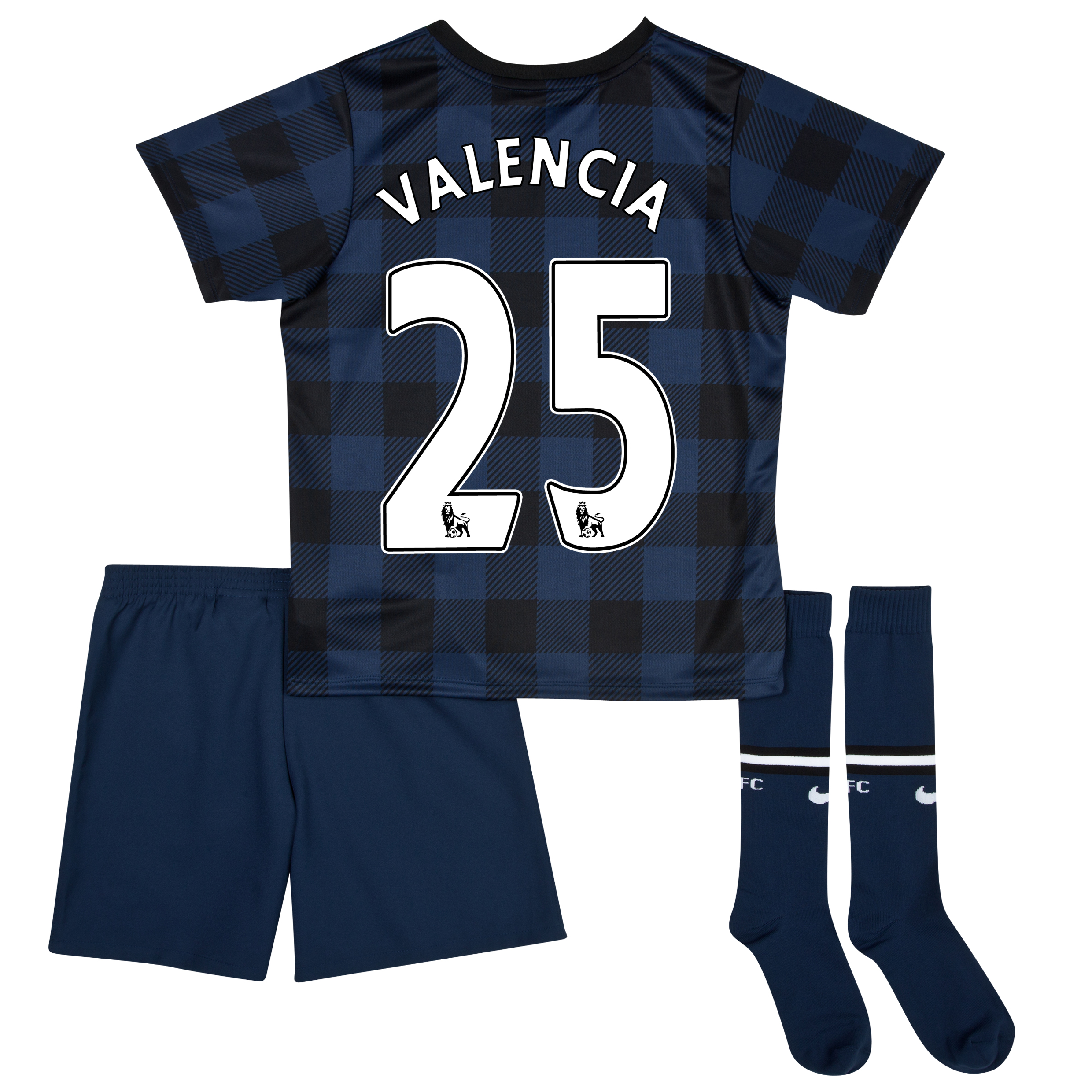 Manchester United Away Kit 2013/14 - Little Boys with Valencia 25 printing