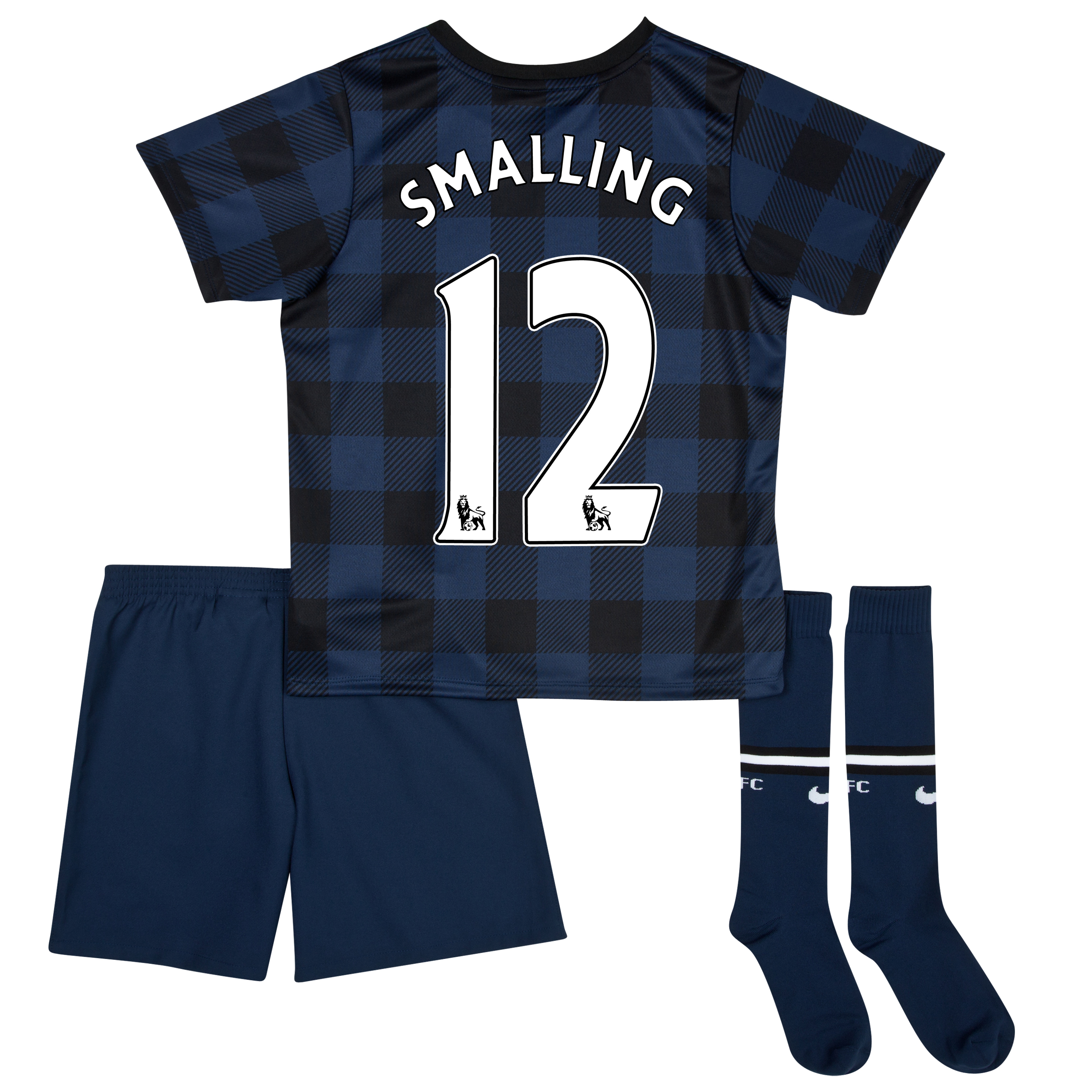 Manchester United Away Kit 2013/14 - Little Boys with Smalling 12 printing