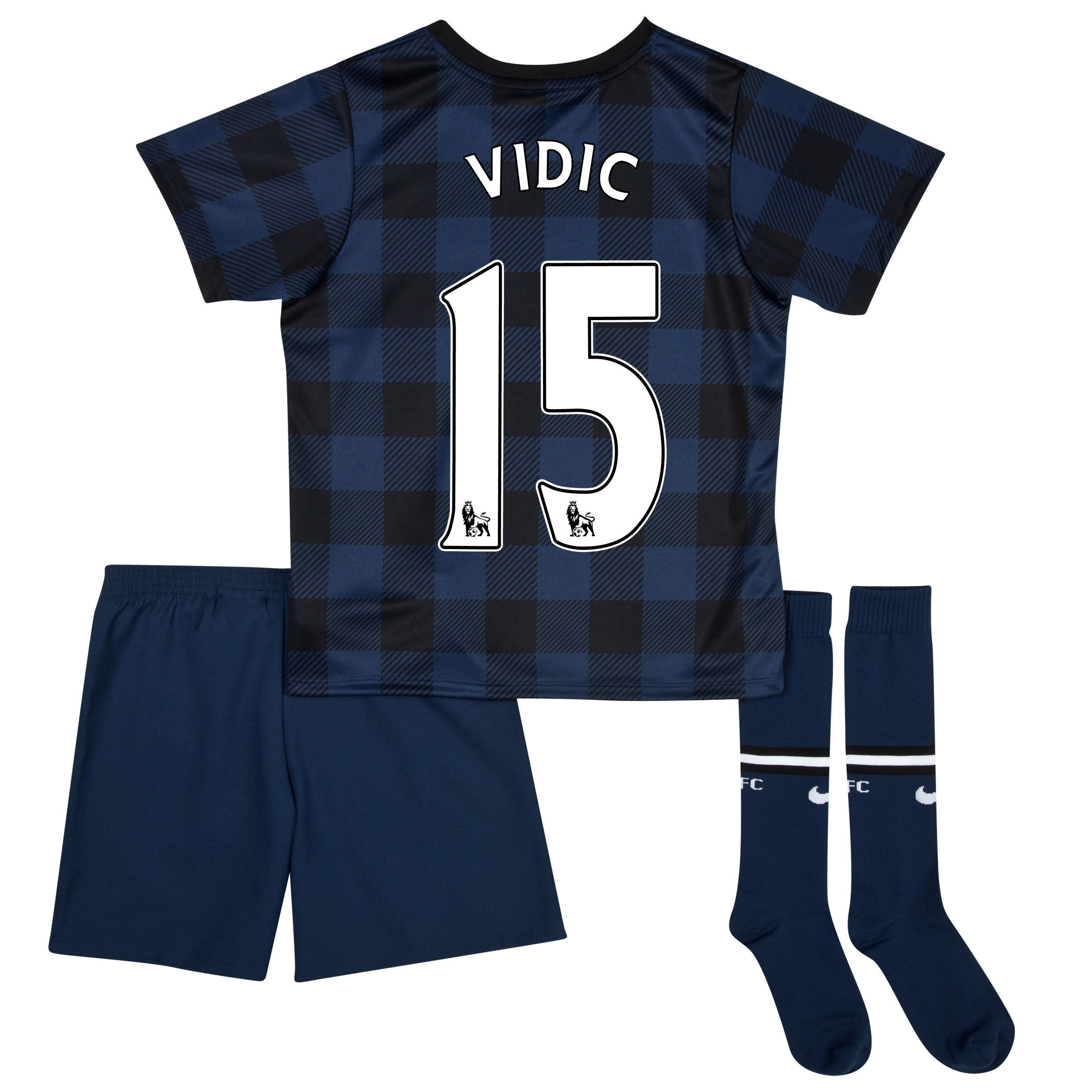 Manchester United Away Kit 2013/14 - Little Boys with Vidic 15 printing