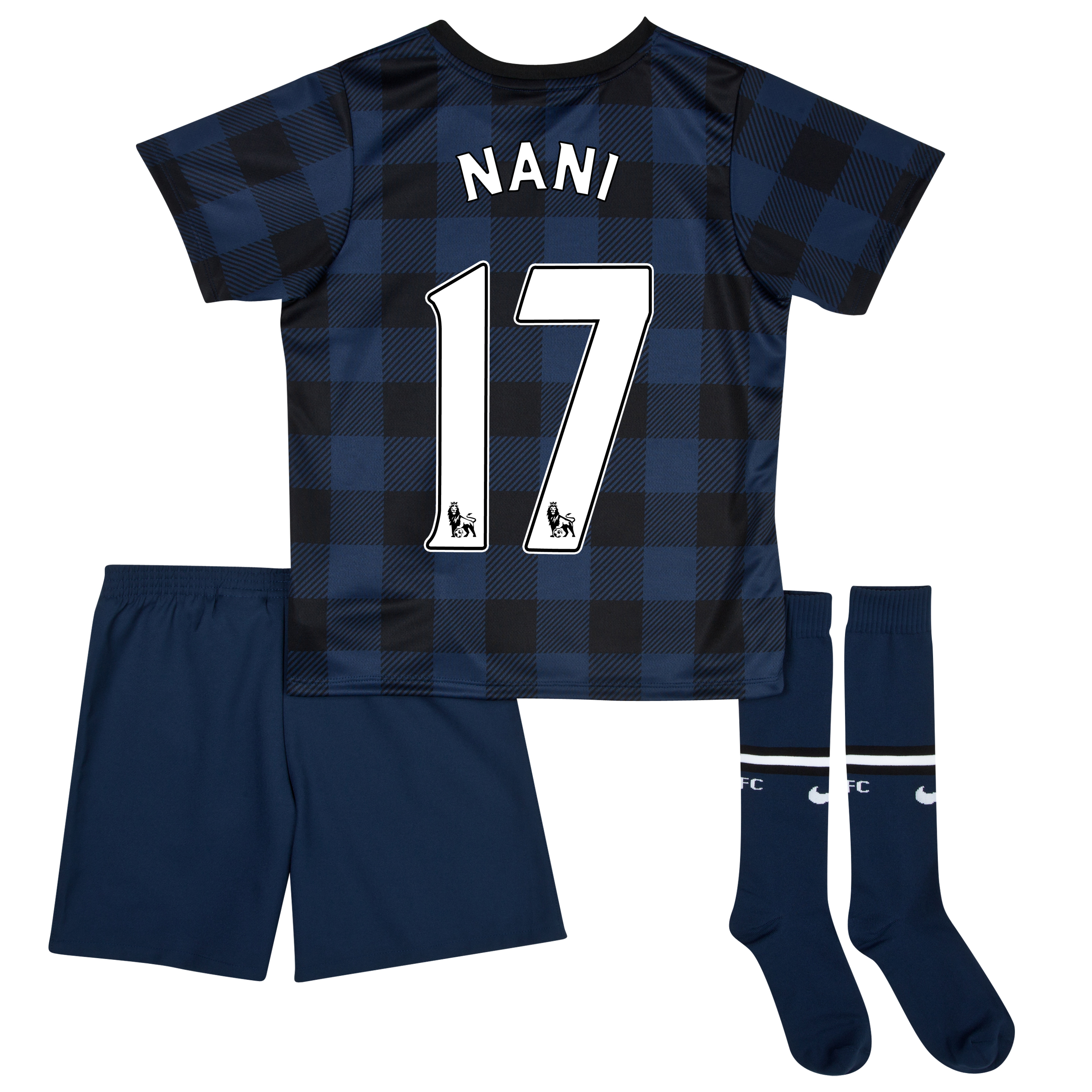 Manchester United Away Kit 2013/14 - Little Boys with Nani 17 printing