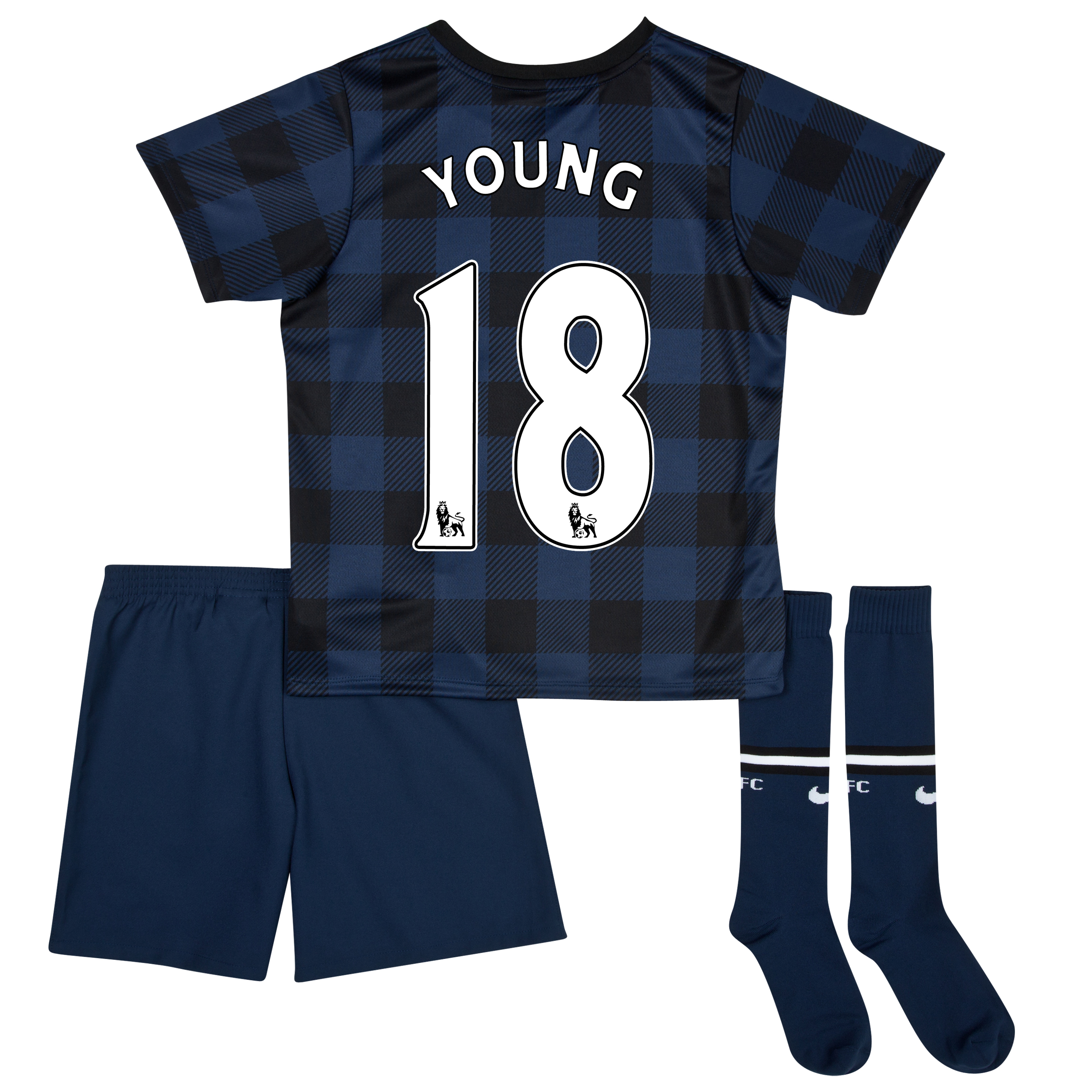 Manchester United Away Kit 2013/14 - Little Boys with Young 18 printing
