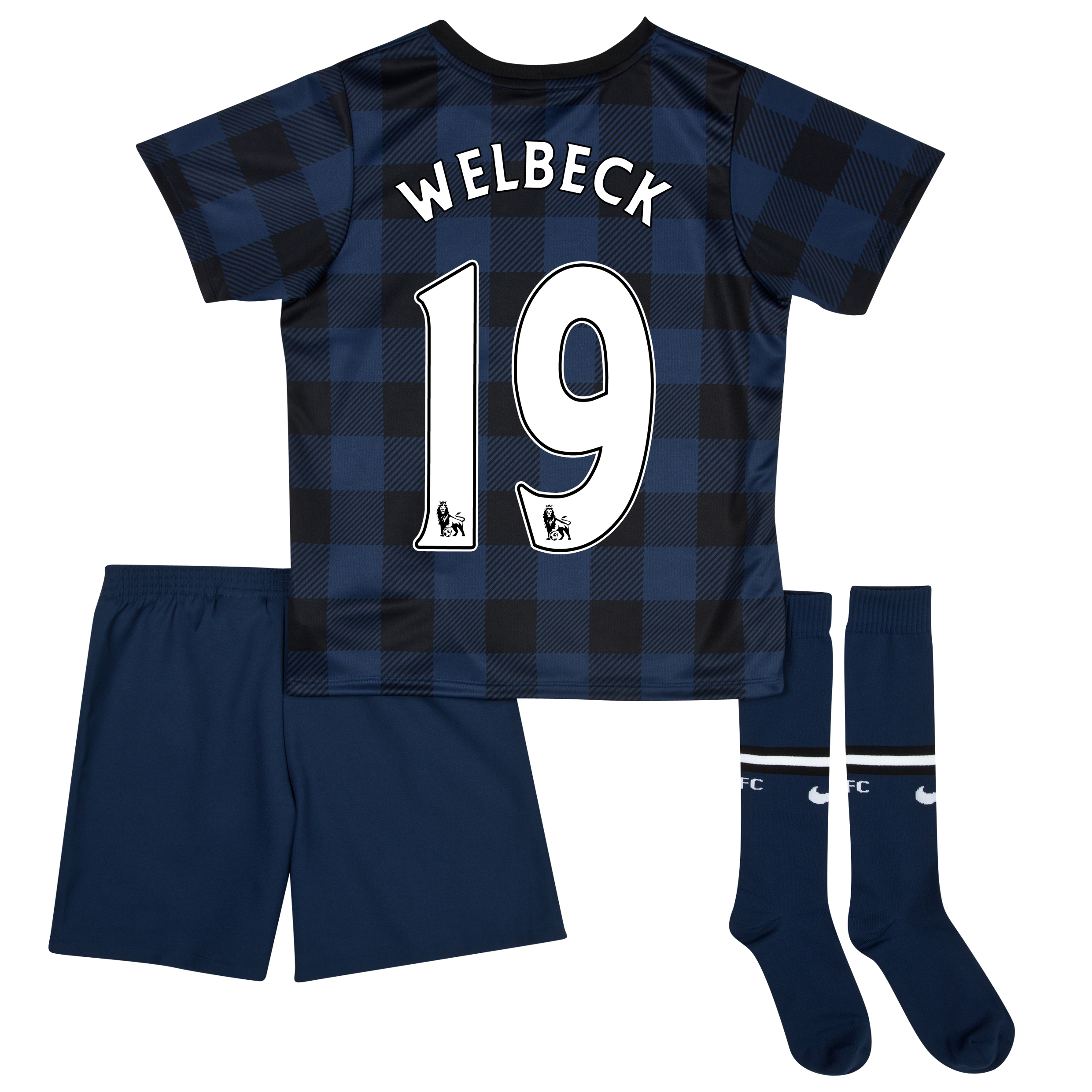 Manchester United Away Kit 2013/14 - Little Boys with Welbeck 19 printing