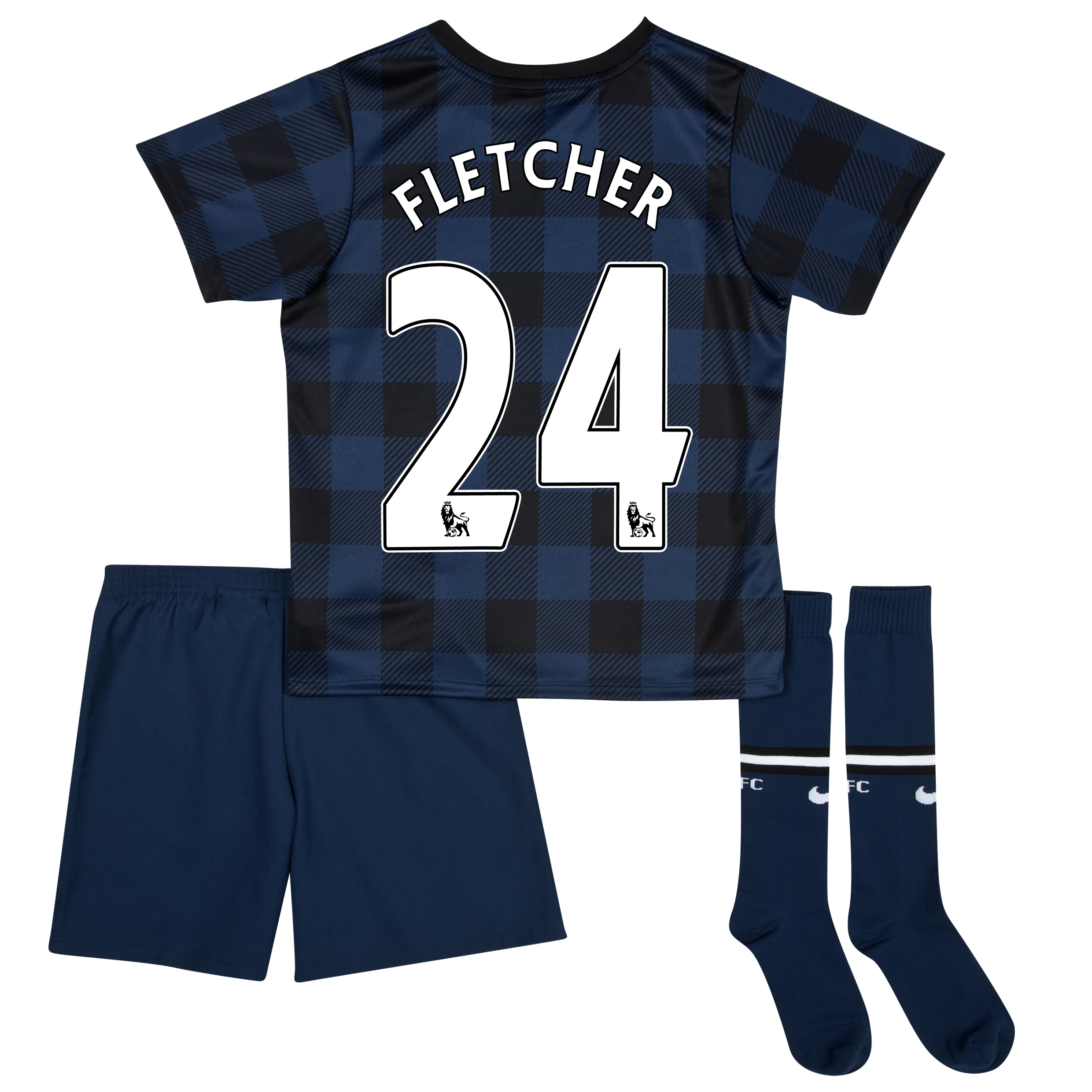 Manchester United Away Kit 2013/14 - Little Boys with Fletcher 24 printing
