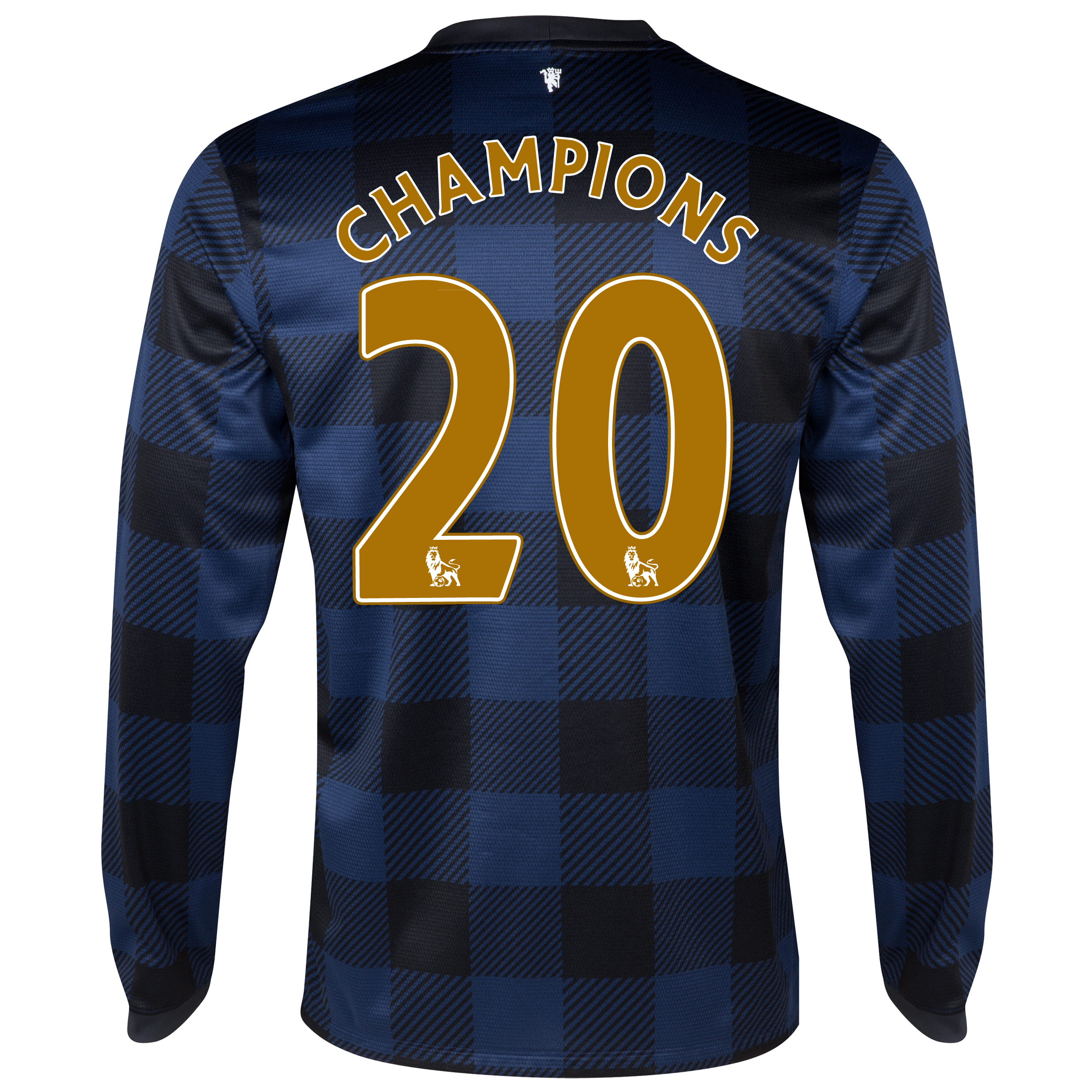 Manchester United Away Shirt 2013/14 - Long Sleeved - Kids with Champions 20 printing