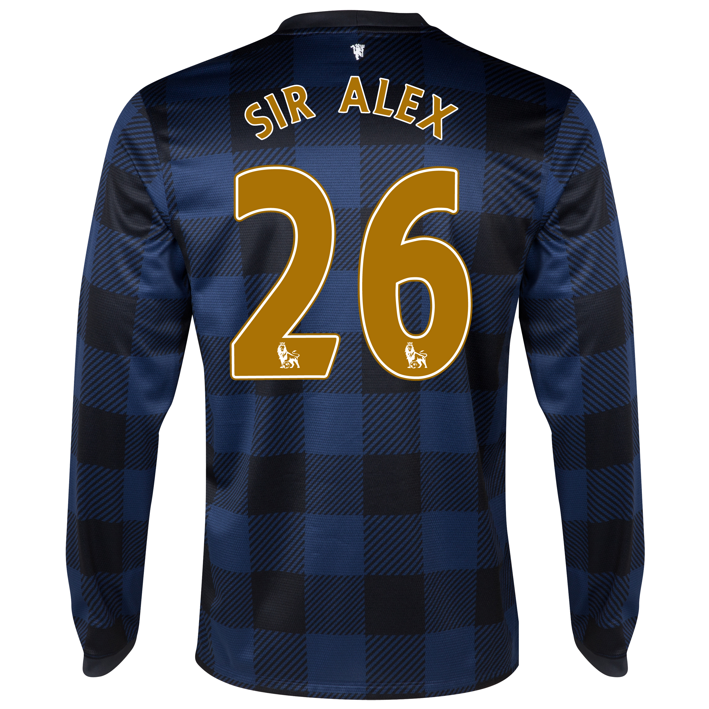 Manchester United Away Shirt 2013/14 - Long Sleeved - Kids with Sir Alex 26 printing