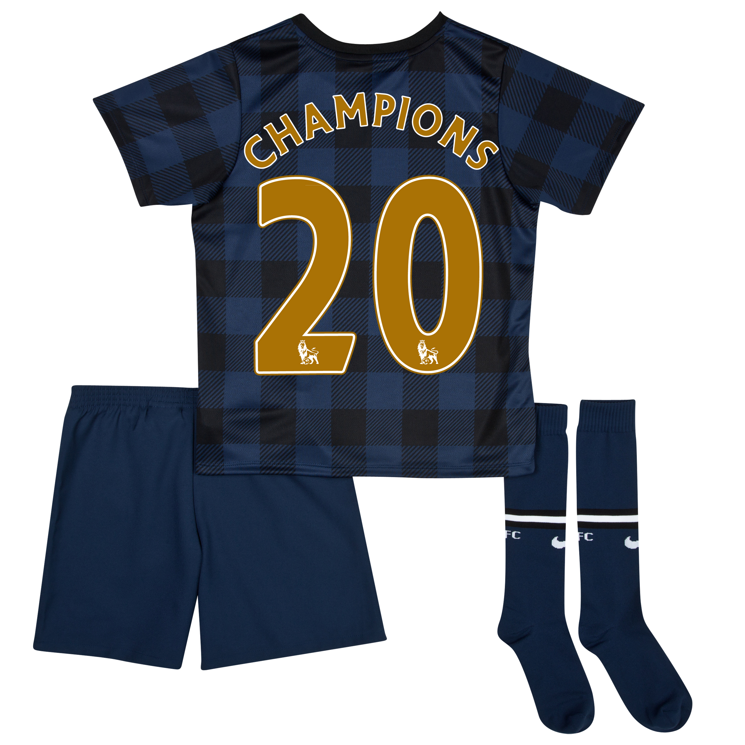 Manchester United Away Kit 2013/14 - Little Boys with Champions 20 printing