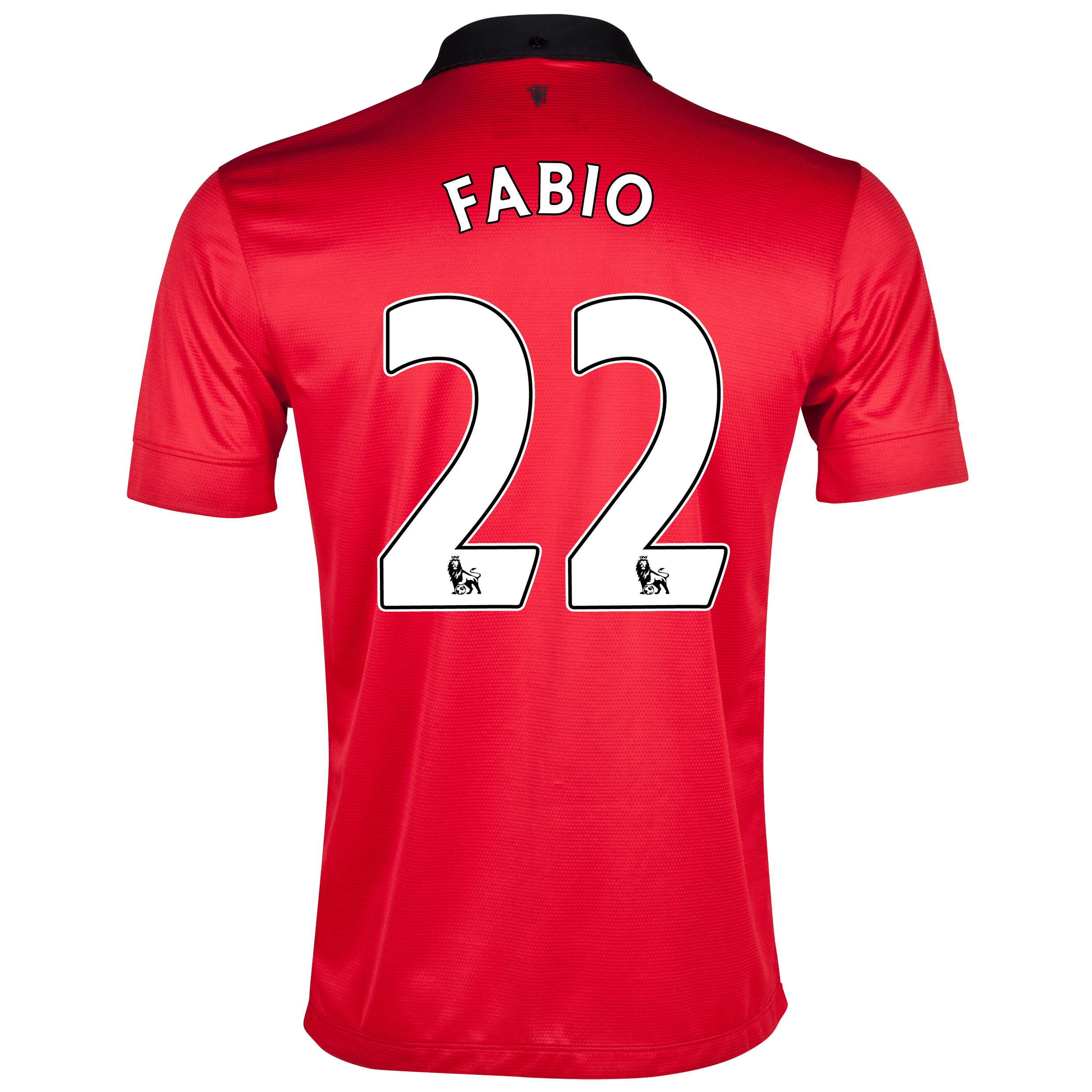 Manchester United Home Shirt 2013/14 with Fabio 22 printing