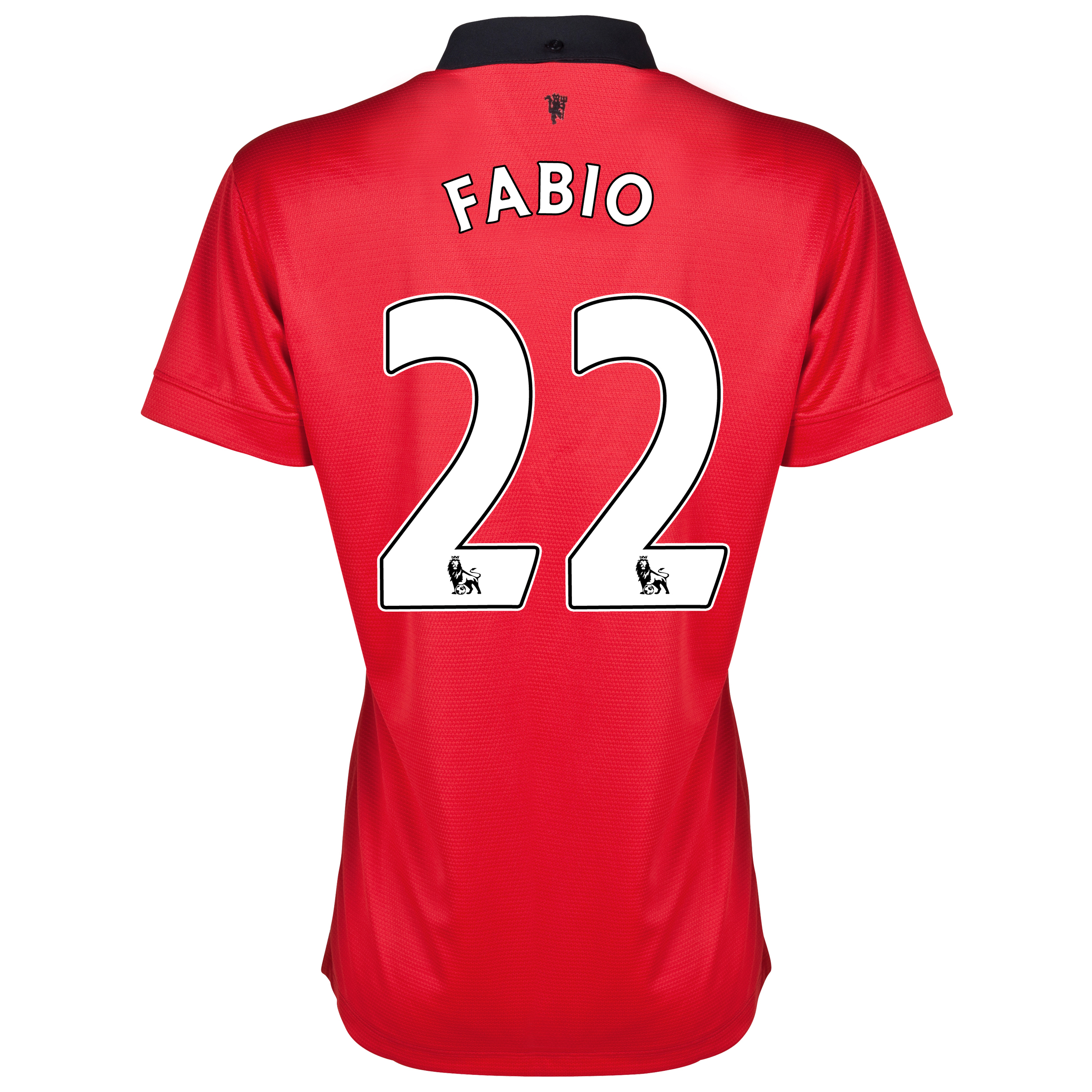 Manchester United Home Shirt 2013/14 - Womens with Fabio 22 printing