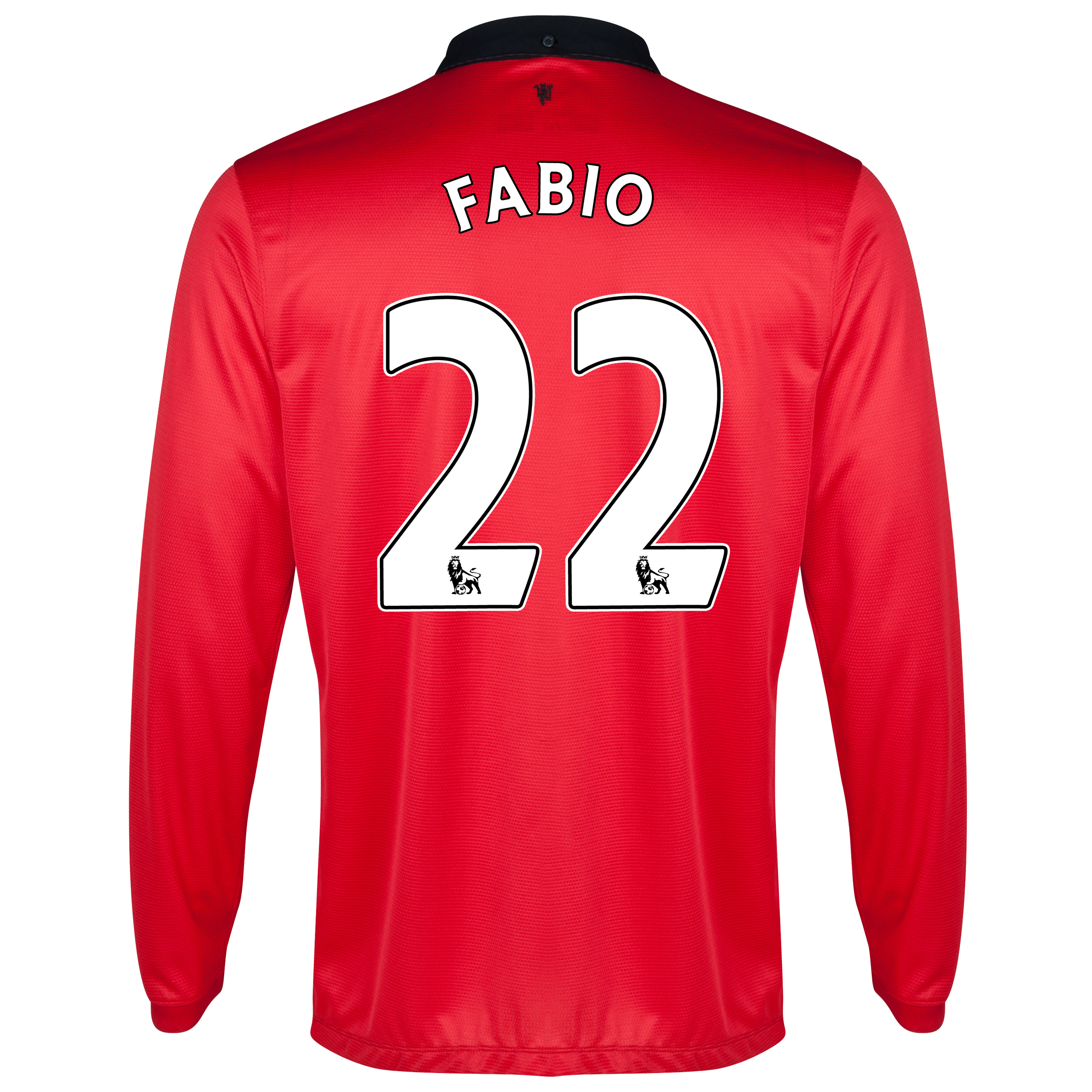 Manchester United Home Shirt 2013/14 - Long Sleeved with Fabio 22 printing