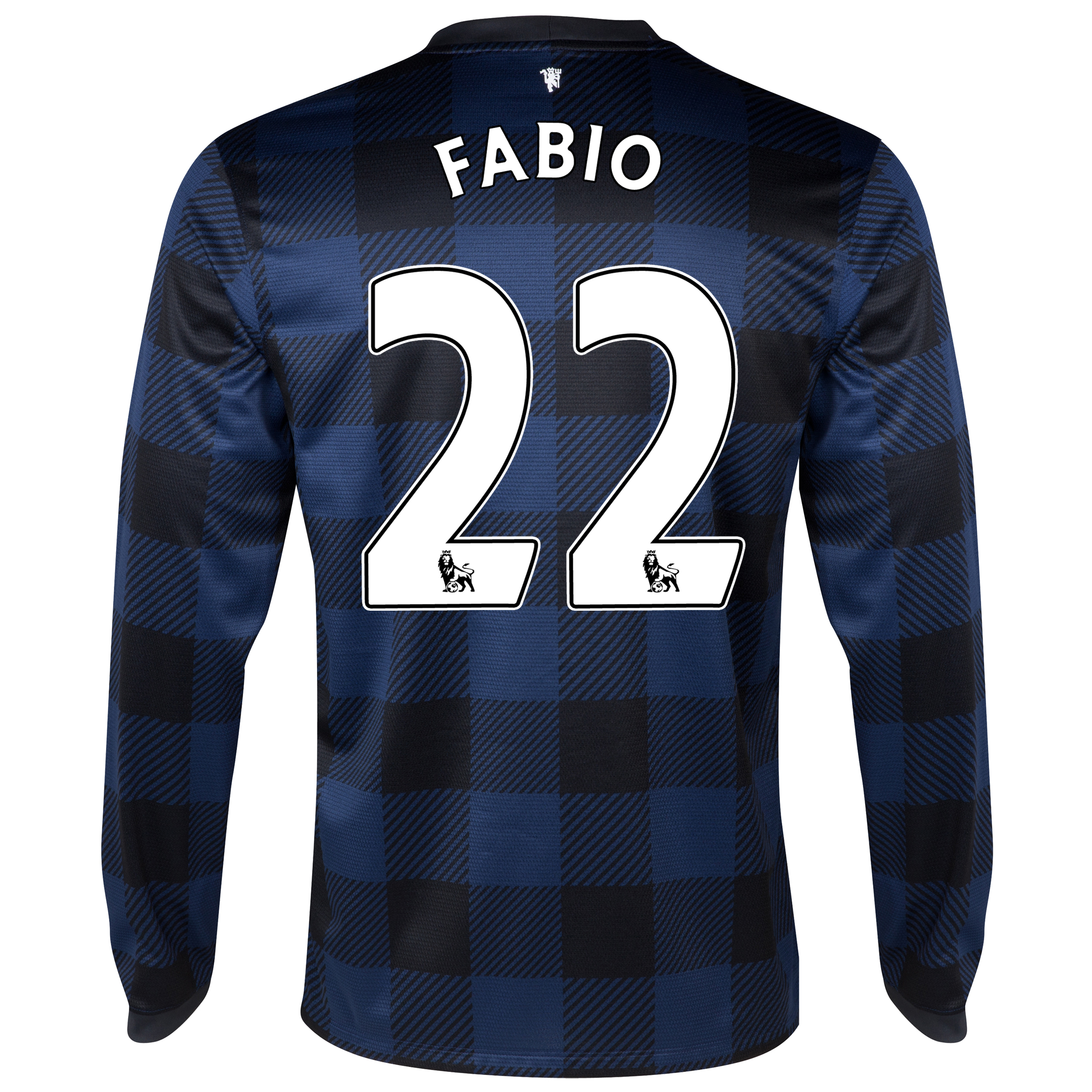 Manchester United Away Shirt 2013/14 - Long Sleeved with Fabio 22 printing