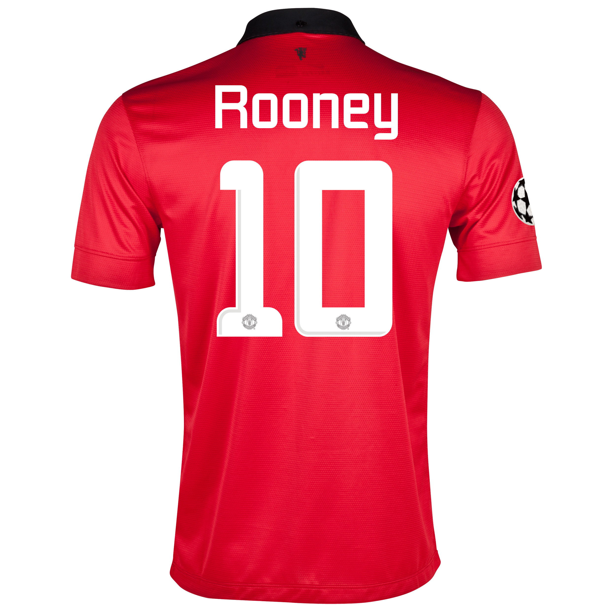 Manchester United UEFA Champions League Home Shirt 2013/14 with Rooney 10 printing