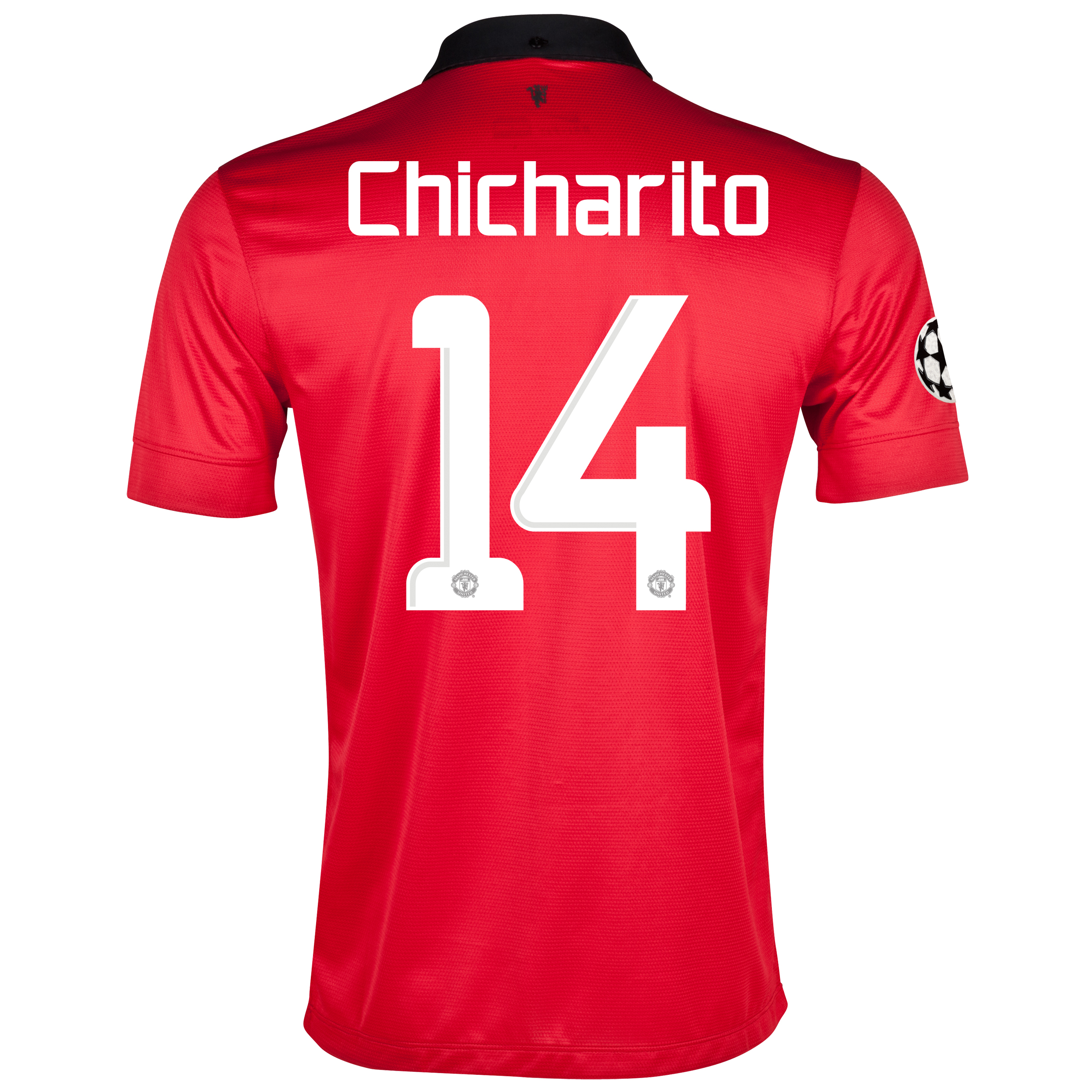 Manchester United UEFA Champions League Home Shirt 2013/14 with Chicharito 14 printing