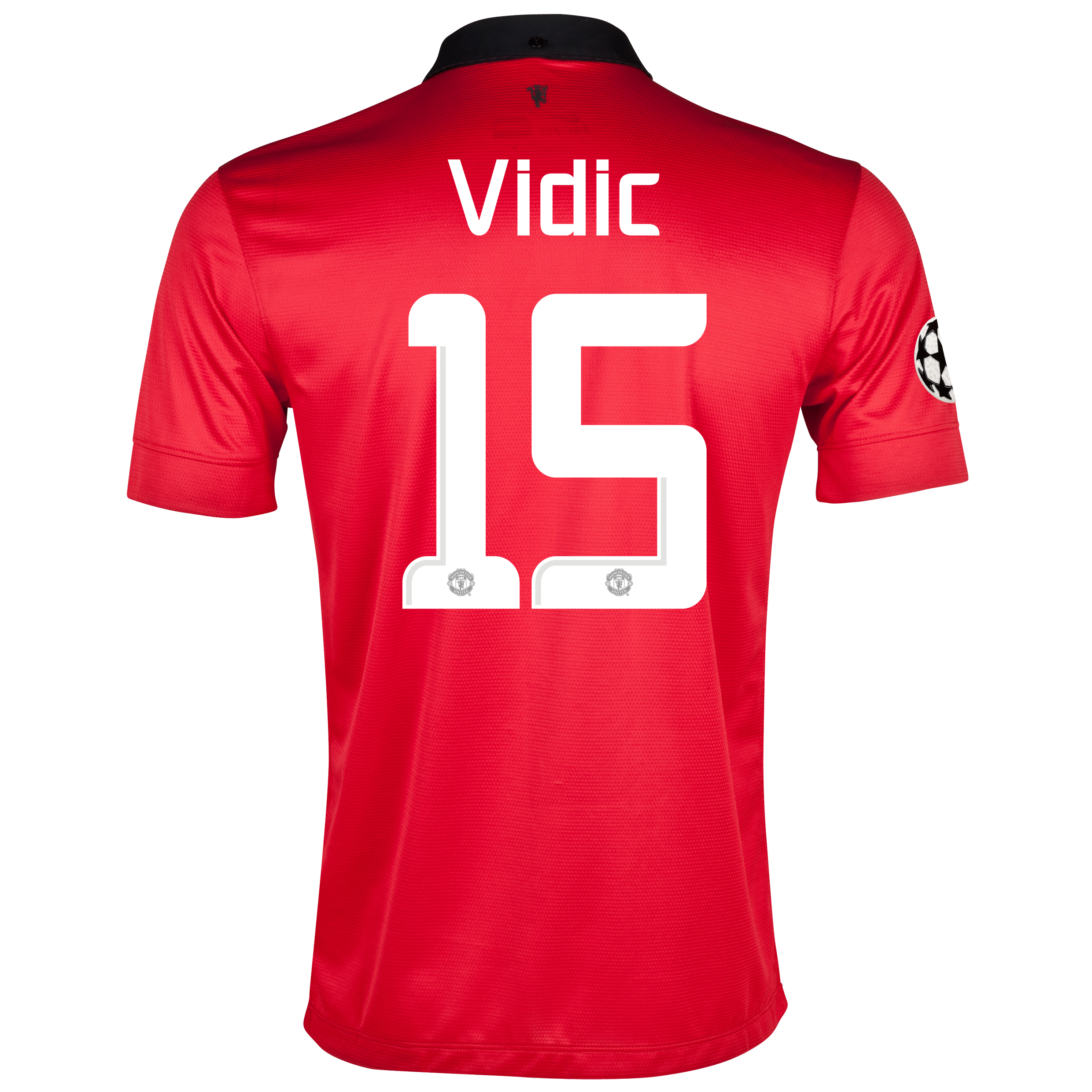 Manchester United UEFA Champions League Home Shirt 2013/14 with Vidic 15 printing