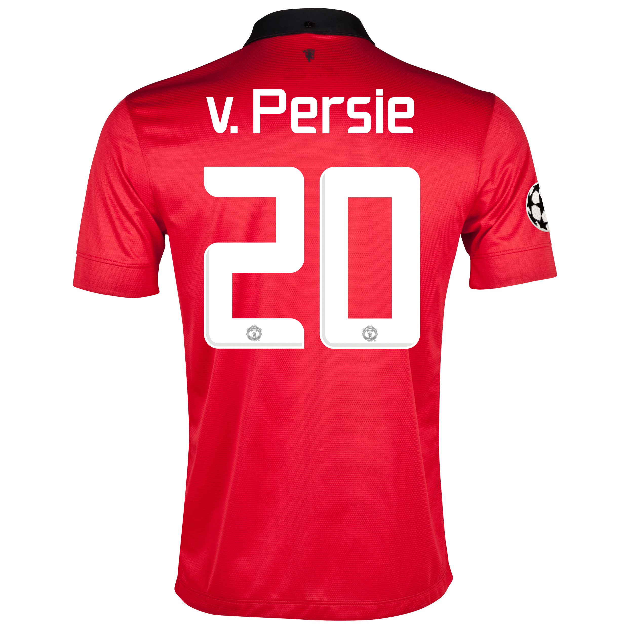 Manchester United UEFA Champions League Home Shirt 2013/14 with v.Persie 20 printing