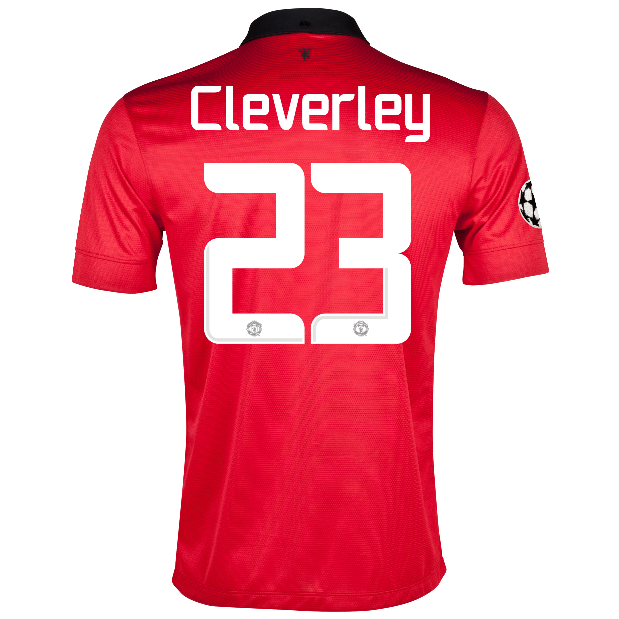 Manchester United UEFA Champions League Home Shirt 2013/14 with Cleverley 23 printing
