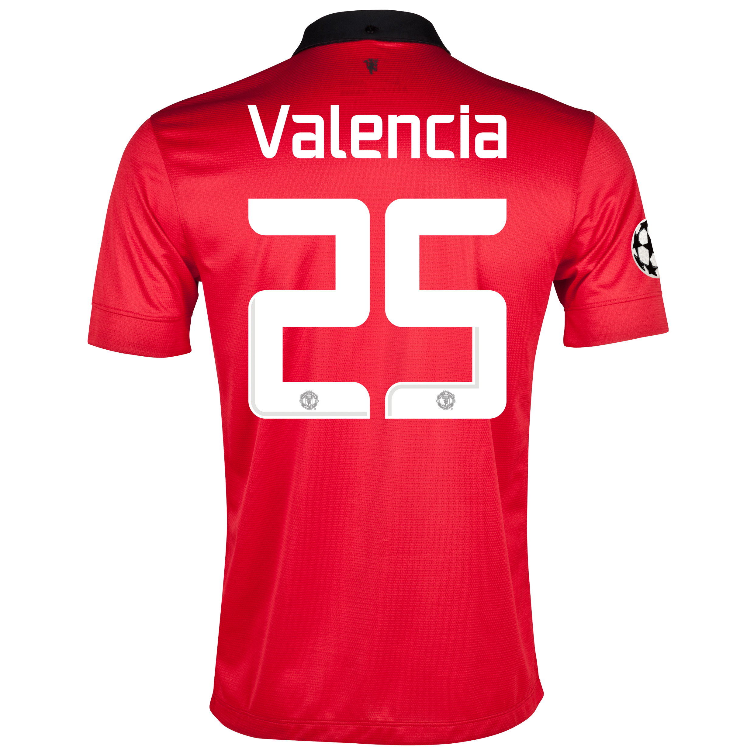 Manchester United UEFA Champions League Home Shirt 2013/14 with Valencia 25 printing