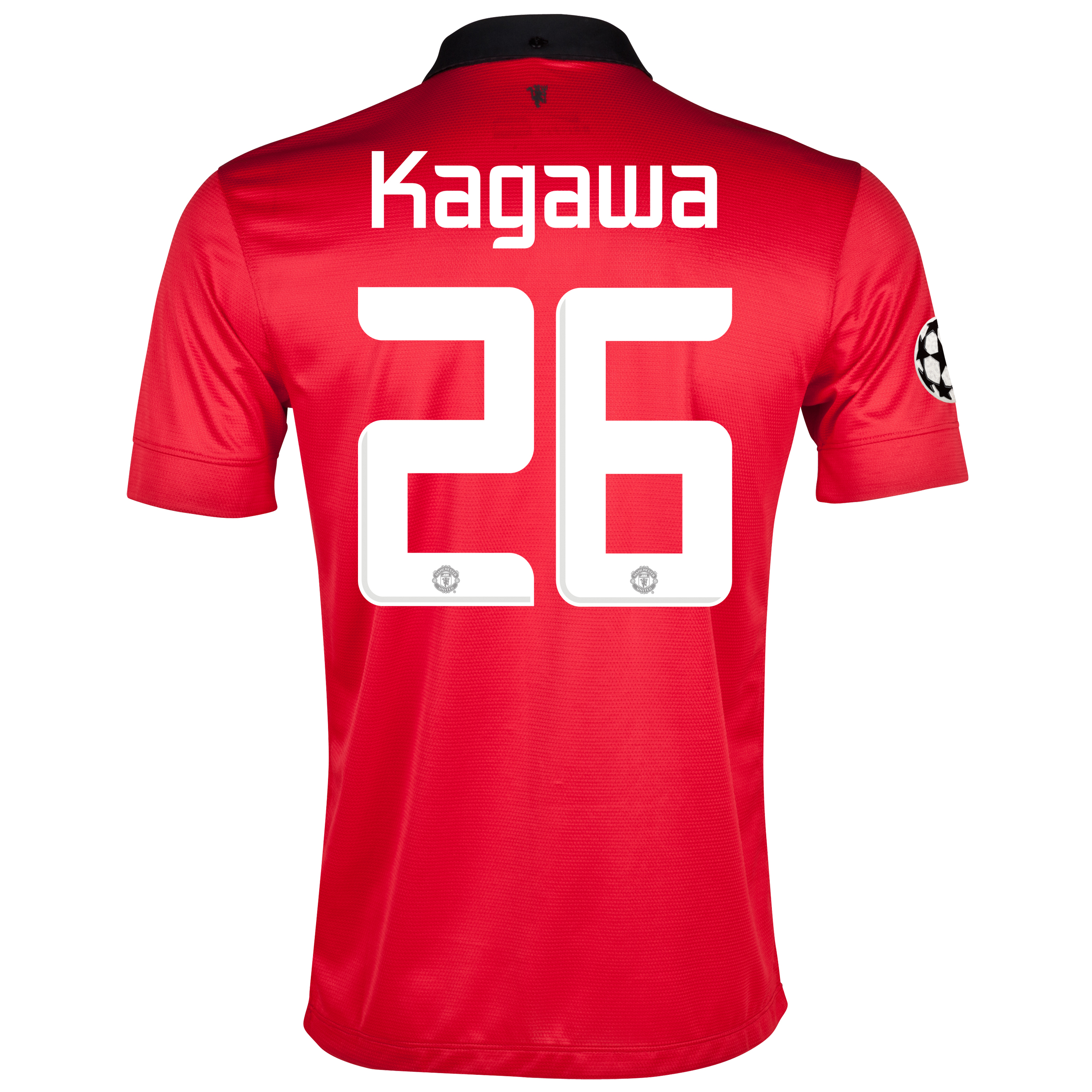 Manchester United UEFA Champions League Home Shirt 2013/14 with Kagawa 26 printing