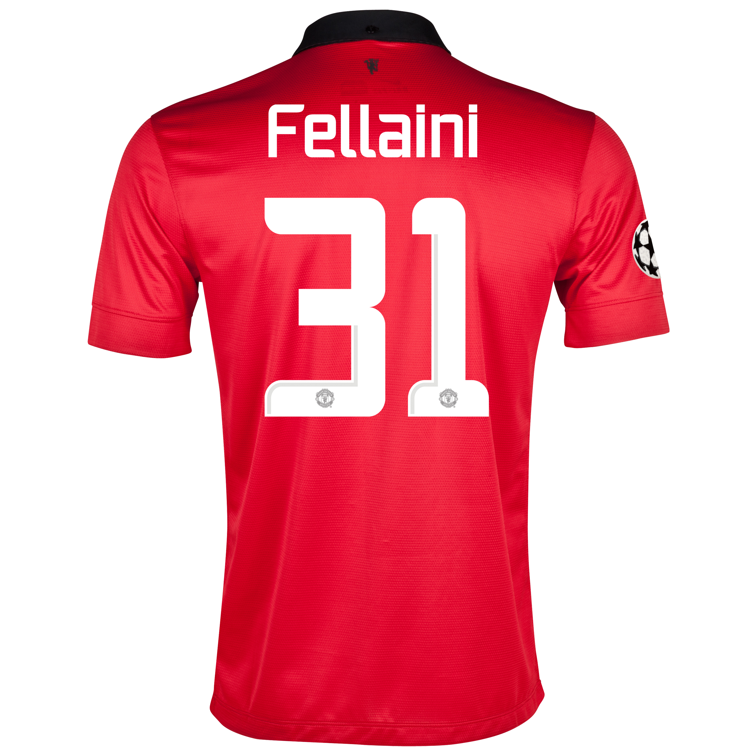 Manchester United UEFA Champions League Home Shirt 2013/14 with Fellaini 31 printing