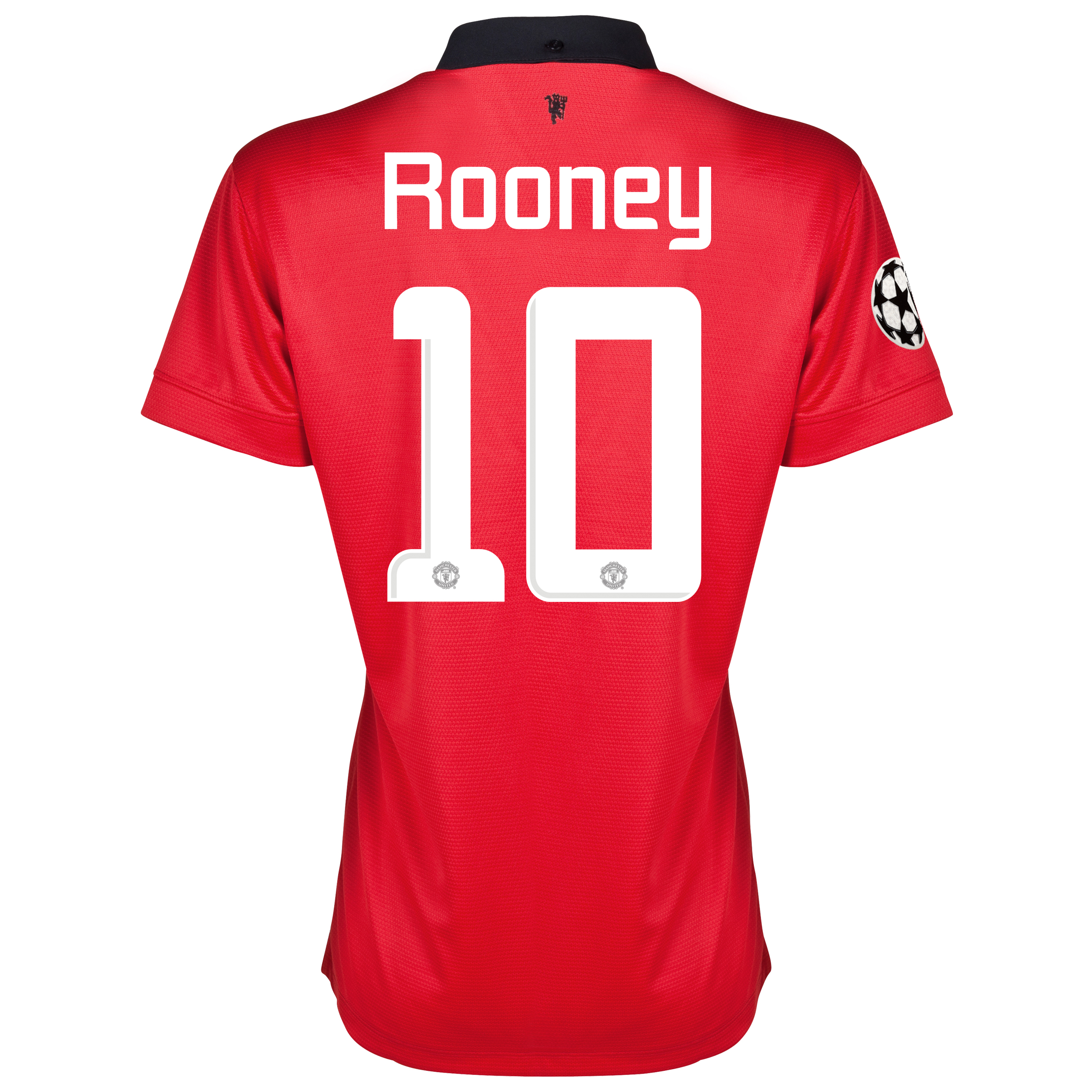 Manchester United UEFA Champions League Home Shirt 2013/14 - Womens with Rooney 10 printing