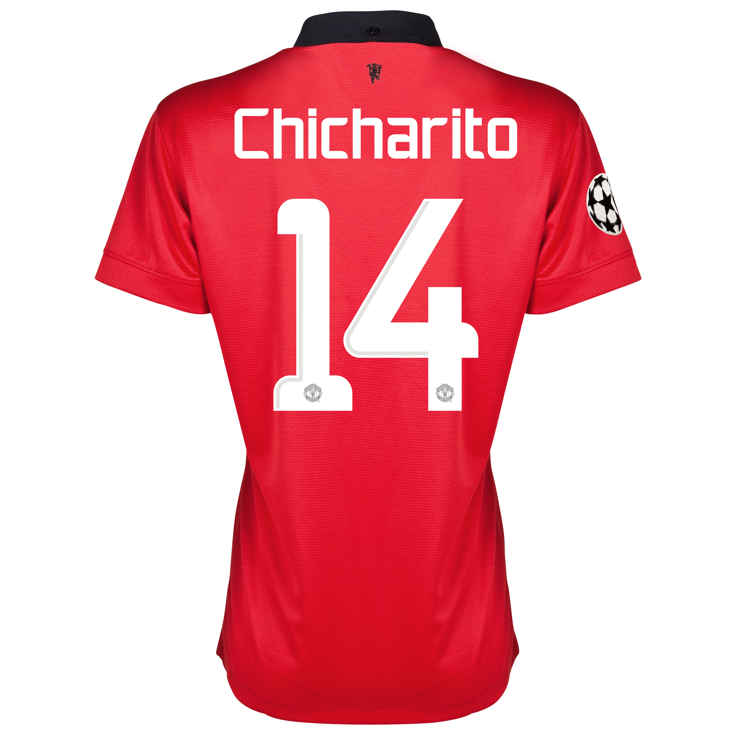 Manchester United UEFA Champions League Home Shirt 2013/14 - Womens with Chicharito 14 printing