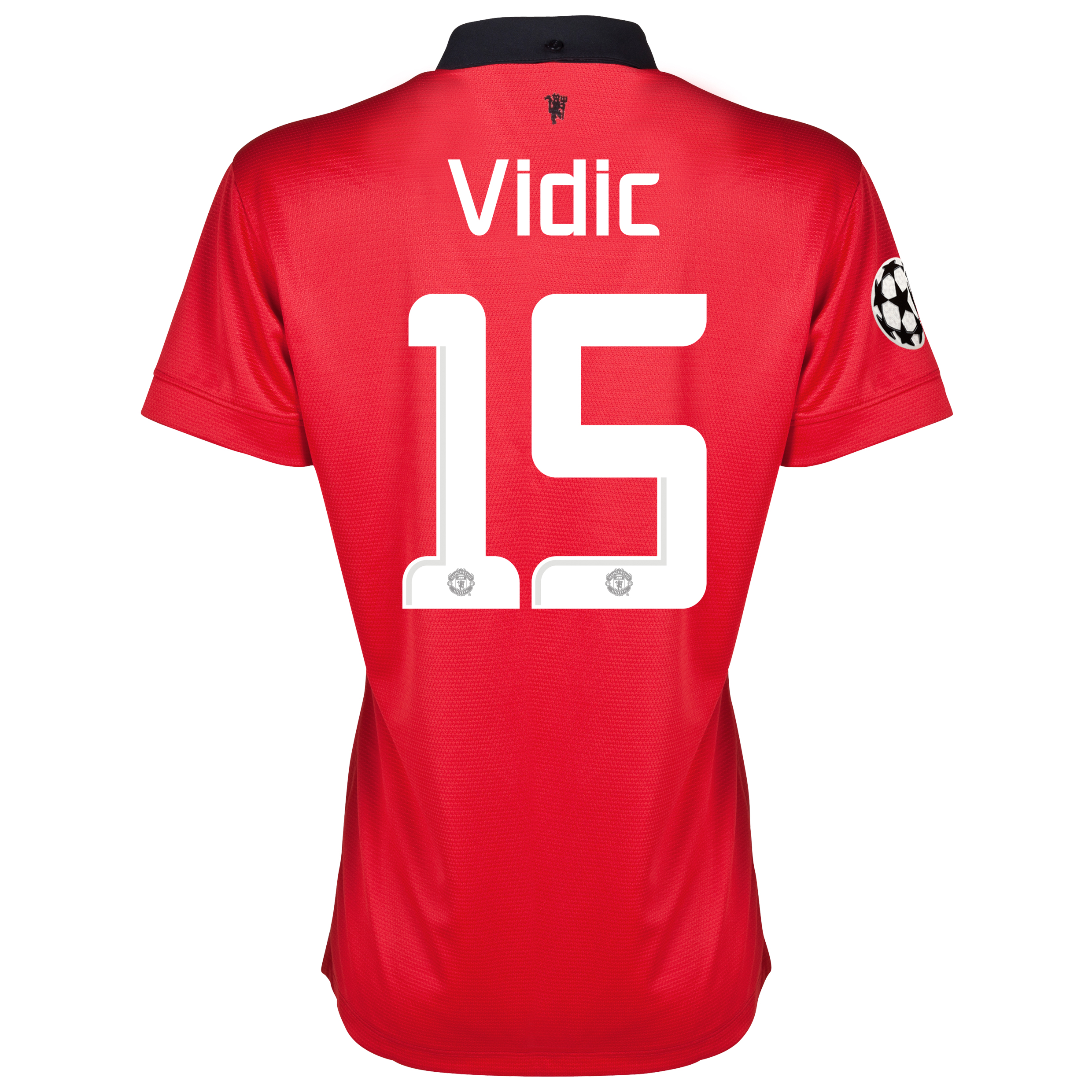 Manchester United UEFA Champions League Home Shirt 2013/14 - Womens with Vidic 15 printing