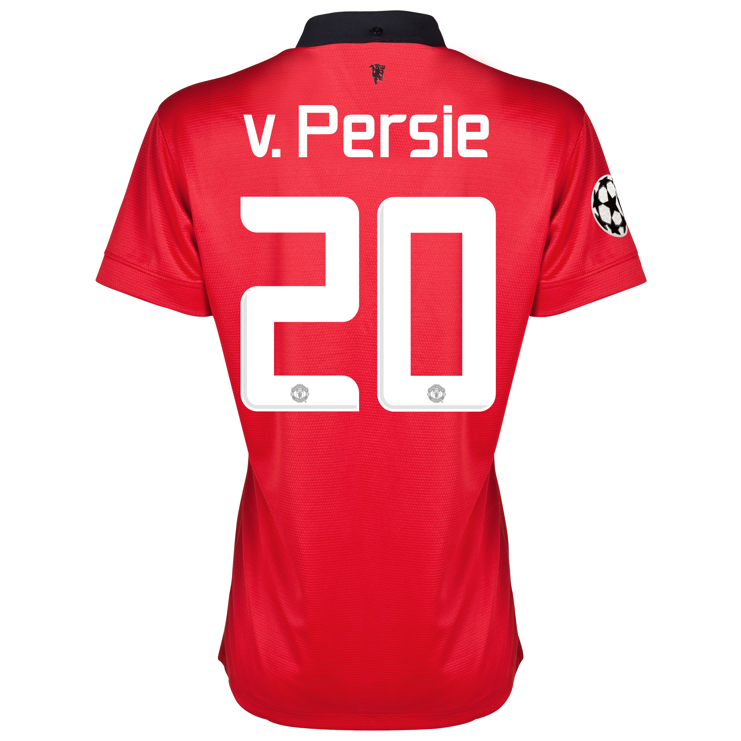 Manchester United UEFA Champions League Home Shirt 2013/14 - Womens with v.Persie 20 printing
