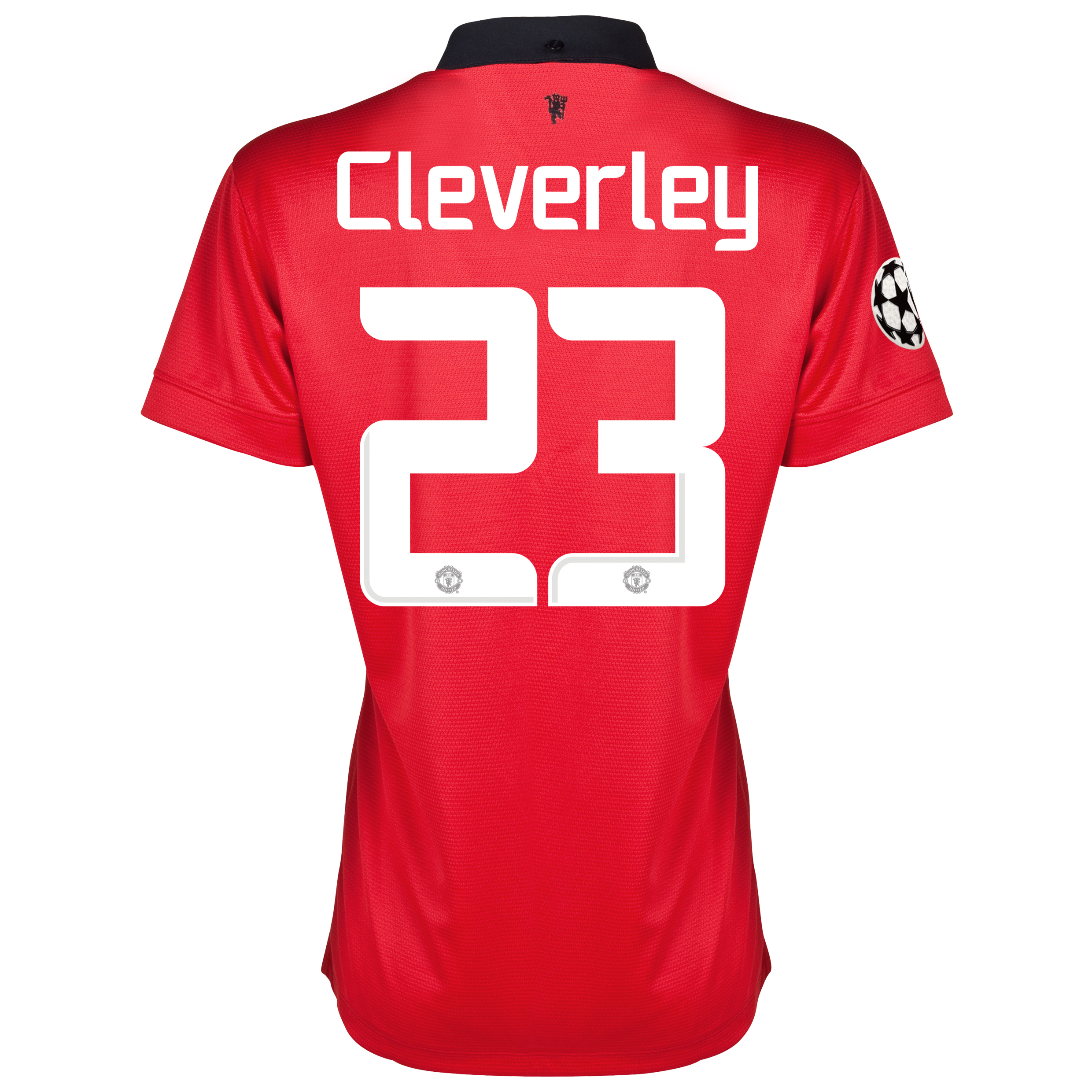 Manchester United UEFA Champions League Home Shirt 2013/14 - Womens with Cleverley 23 printing