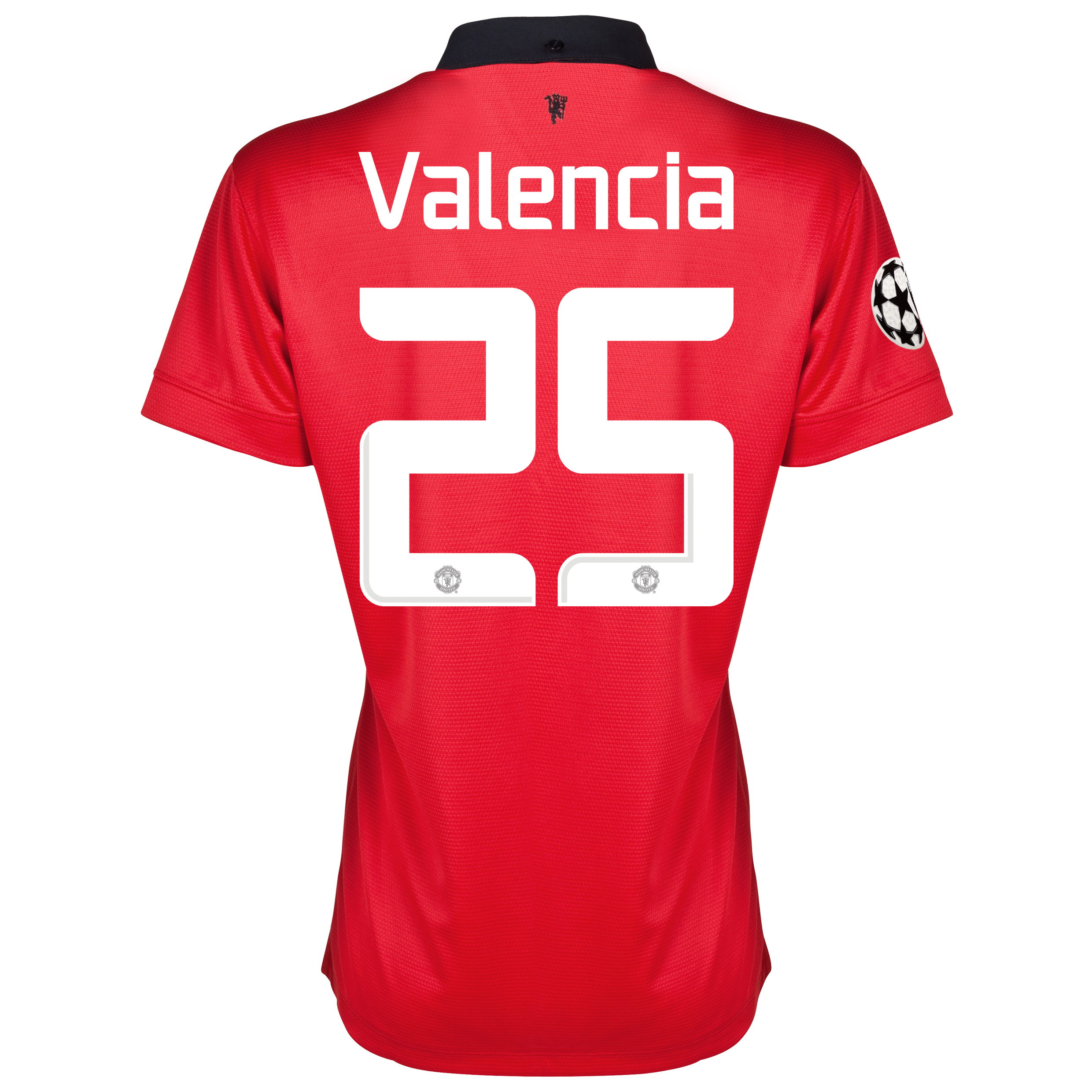 Manchester United UEFA Champions League Home Shirt 2013/14 - Womens with Valencia 25 printing