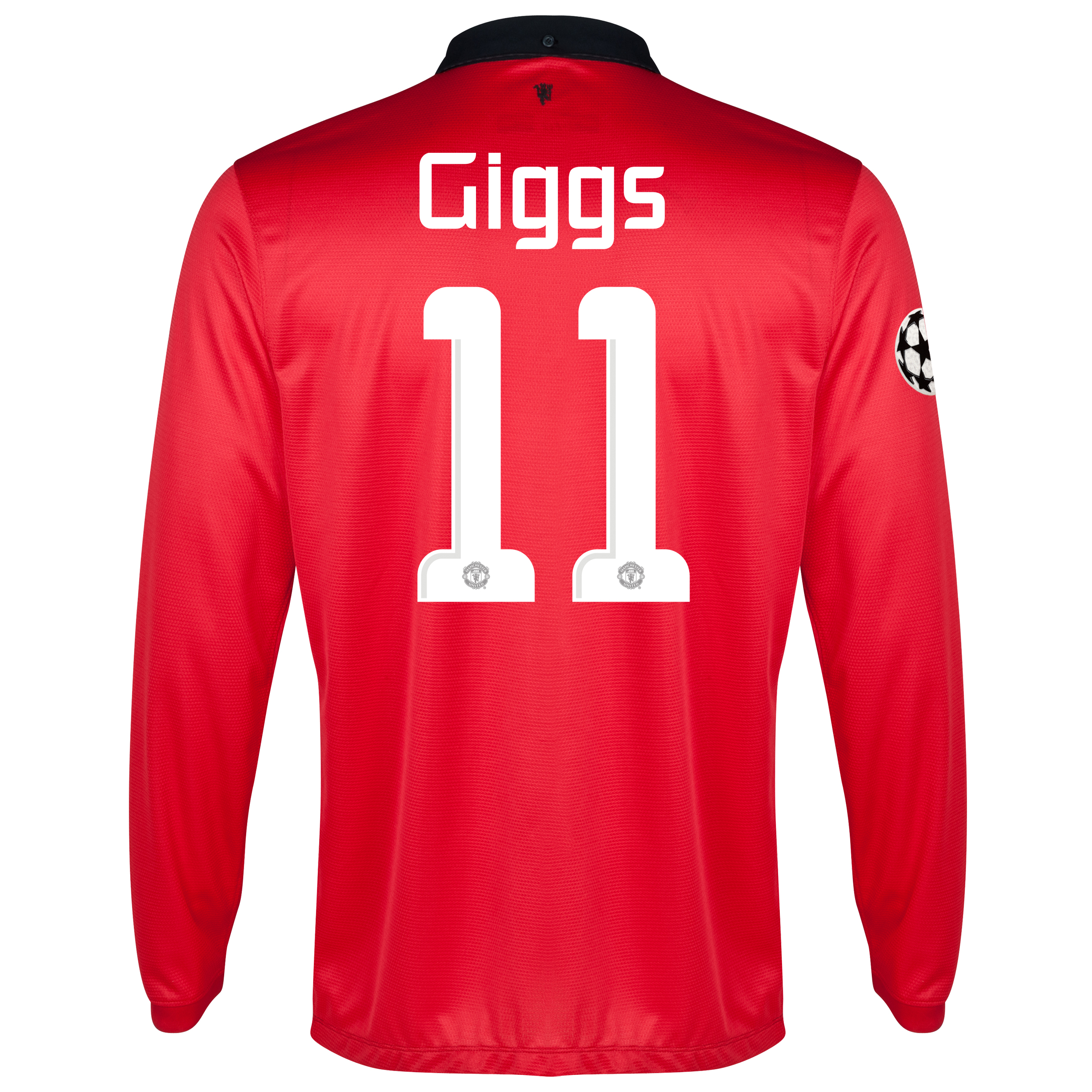 Manchester United UEFA Champions League Home Shirt 2013/14 - Long Sleeved with Giggs 11 printing