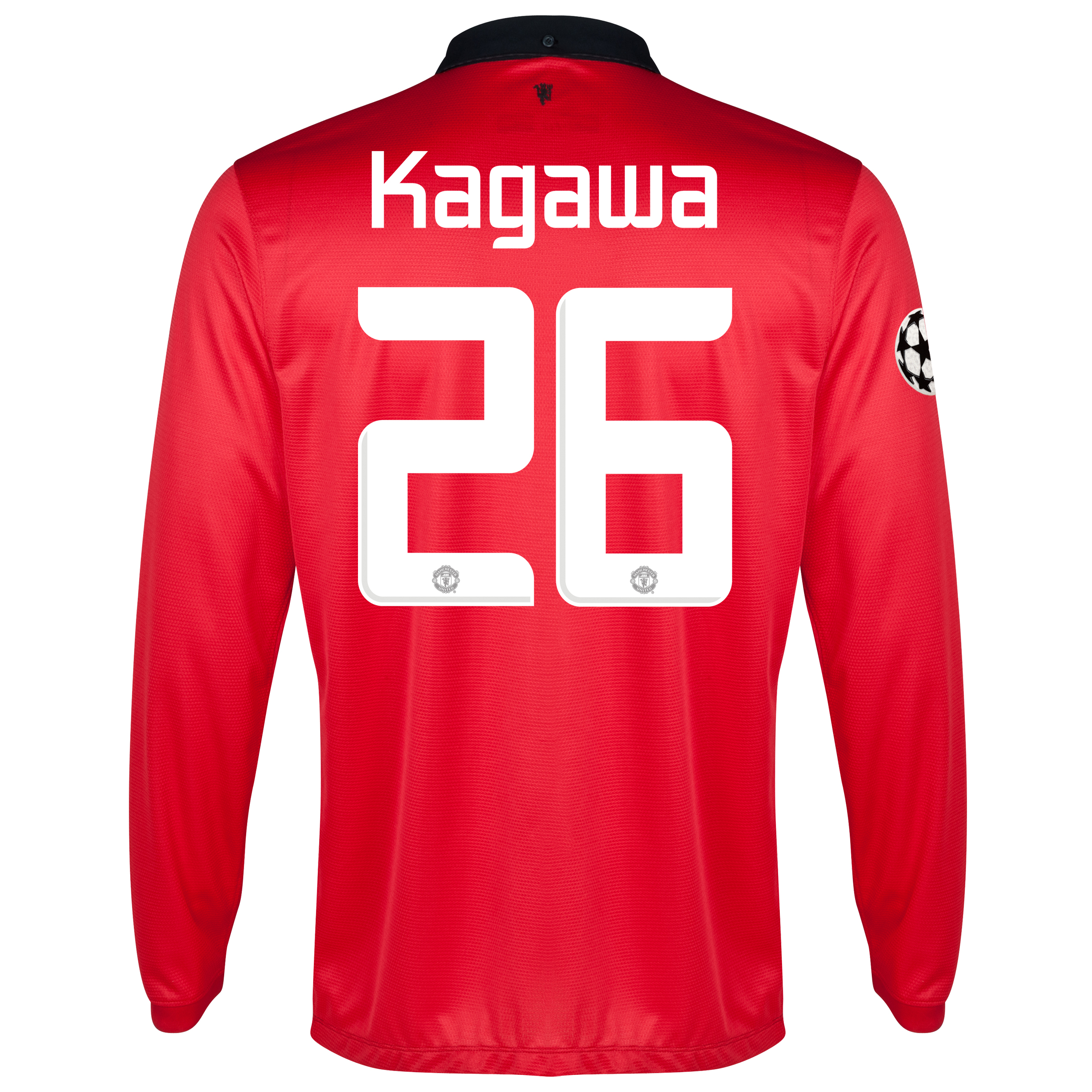 Manchester United UEFA Champions League Home Shirt 2013/14 - Long Sleeved with Kagawa 26 printing