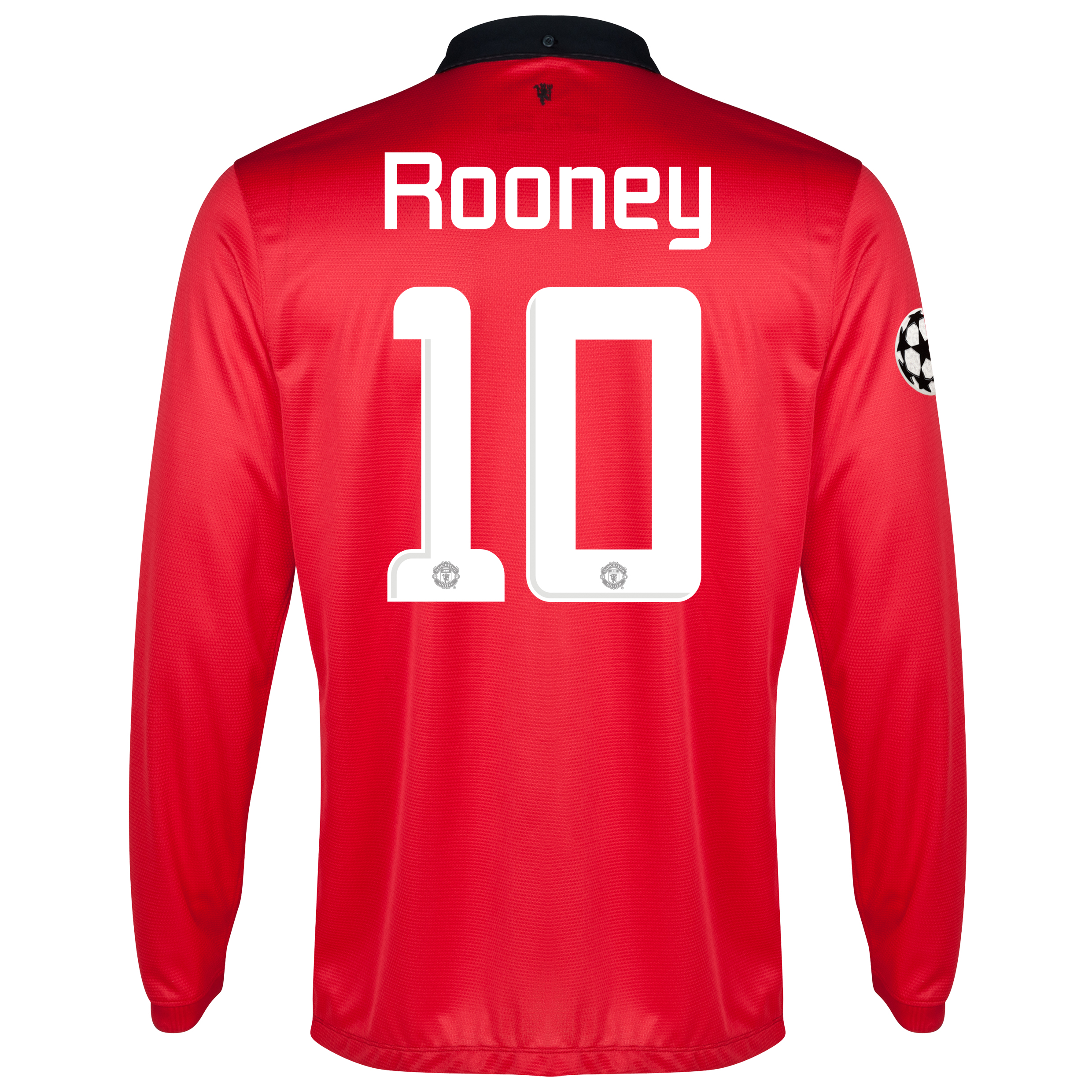 Manchester United UEFA Champions League Home Shirt 2013/14 - Long Sleeved - Kids with Rooney 10 printing
