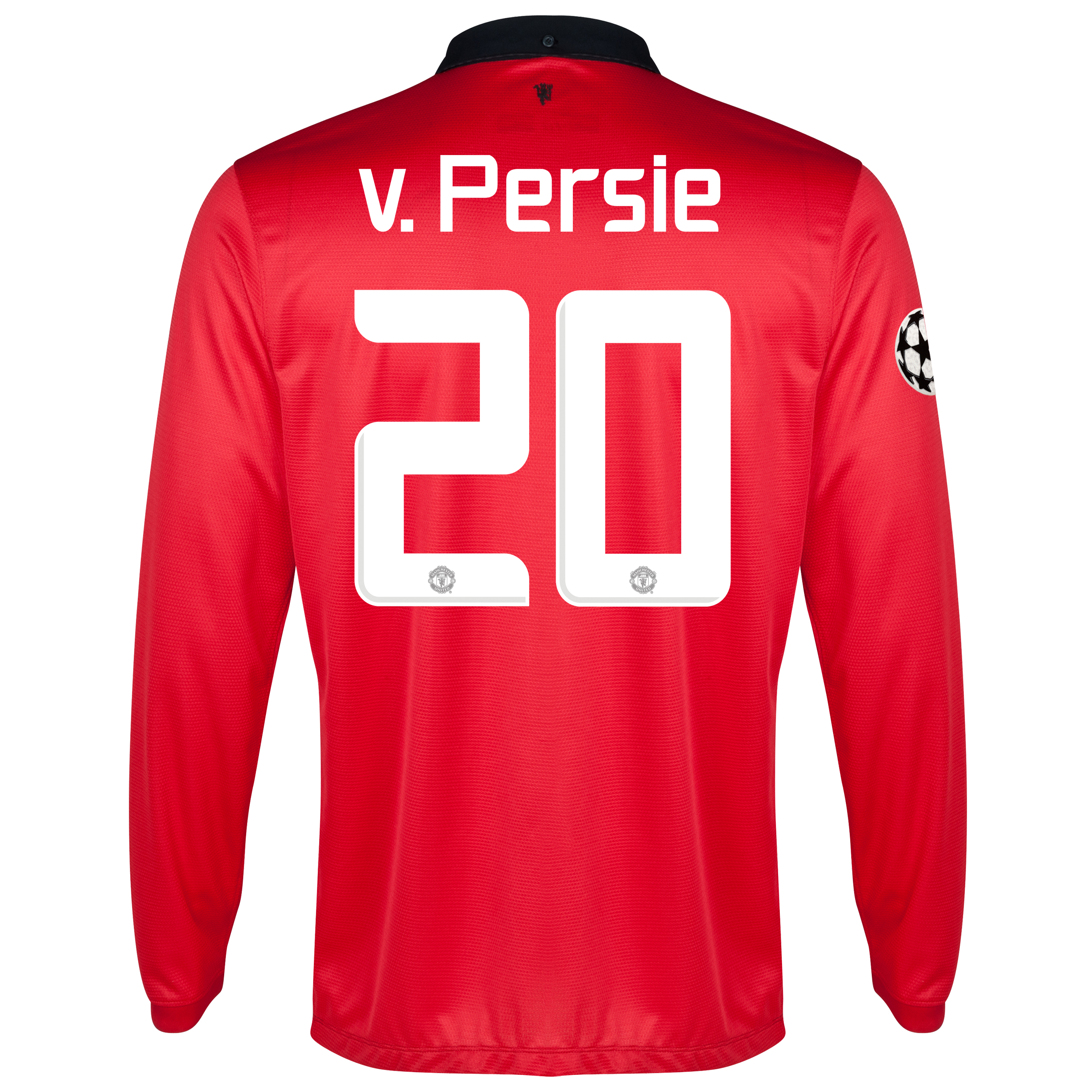 Manchester United UEFA Champions League Home Shirt 2013/14 - Long Sleeved - Kids with v.Persie 20 printing