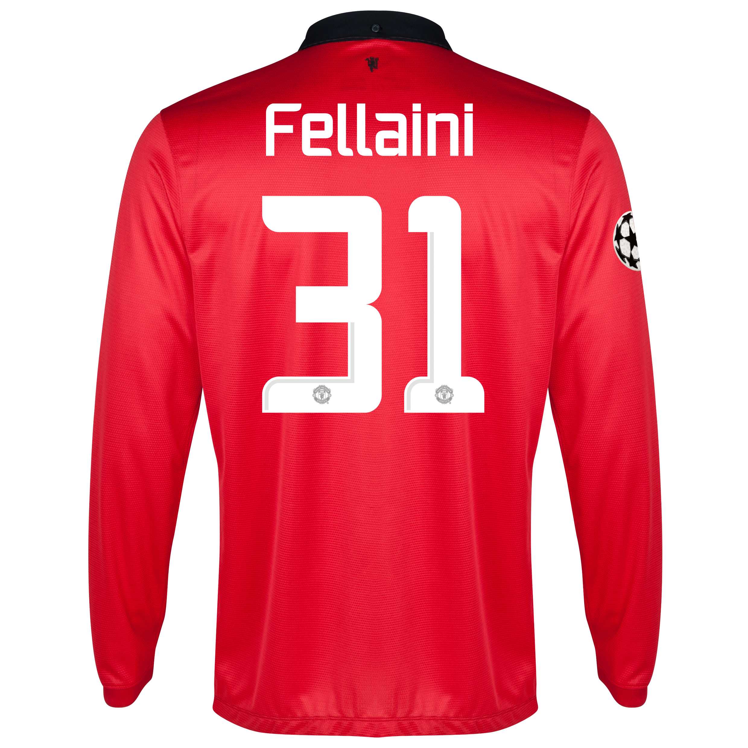 Manchester United UEFA Champions League Home Shirt 2013/14 - Long Sleeved - Kids with Fellaini 31 printing