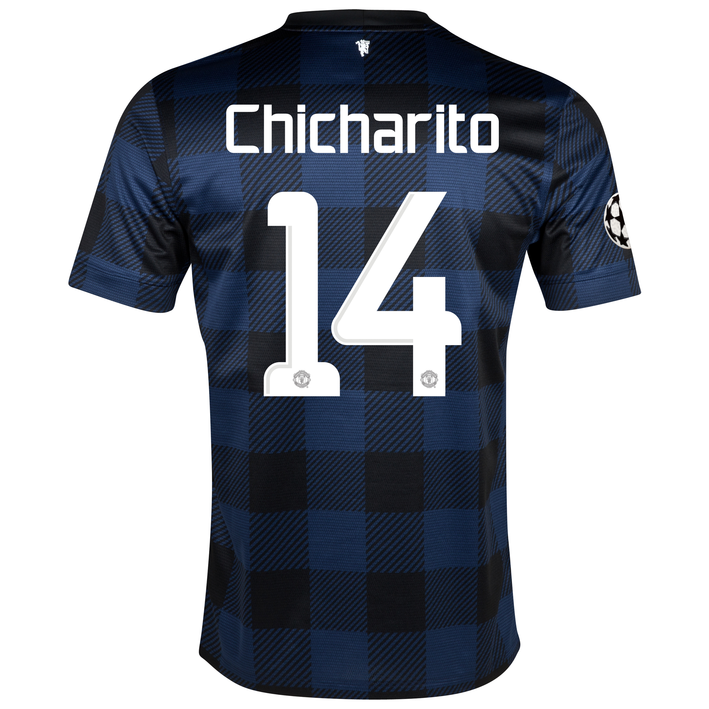 Manchester United UEFA Champions League Away Shirt 2013/14 with Chicharito 14 printing
