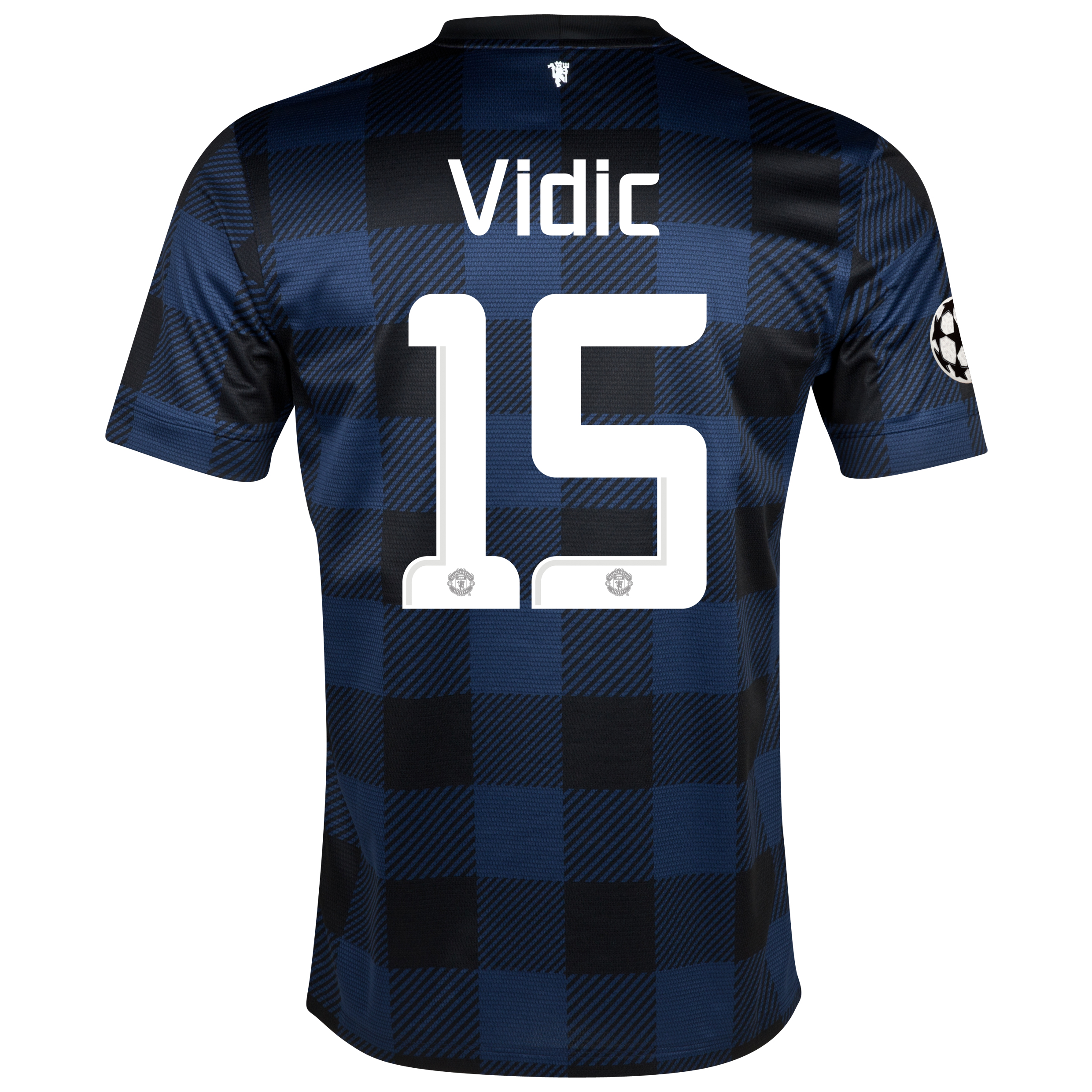 Manchester United UEFA Champions League Away Shirt 2013/14 with Vidic 15 printing