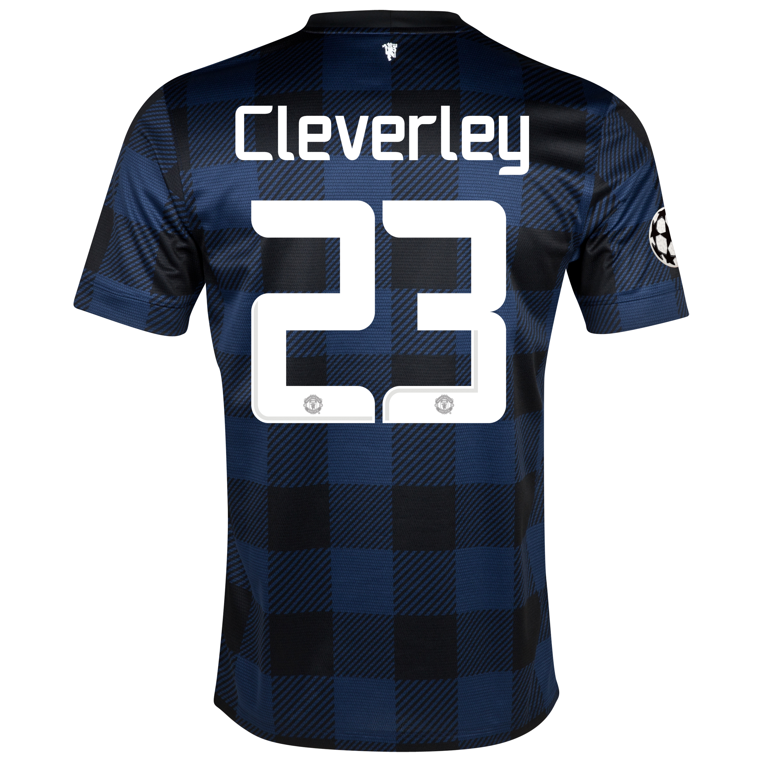 Manchester United UEFA Champions League Away Shirt 2013/14 with Cleverley 23 printing