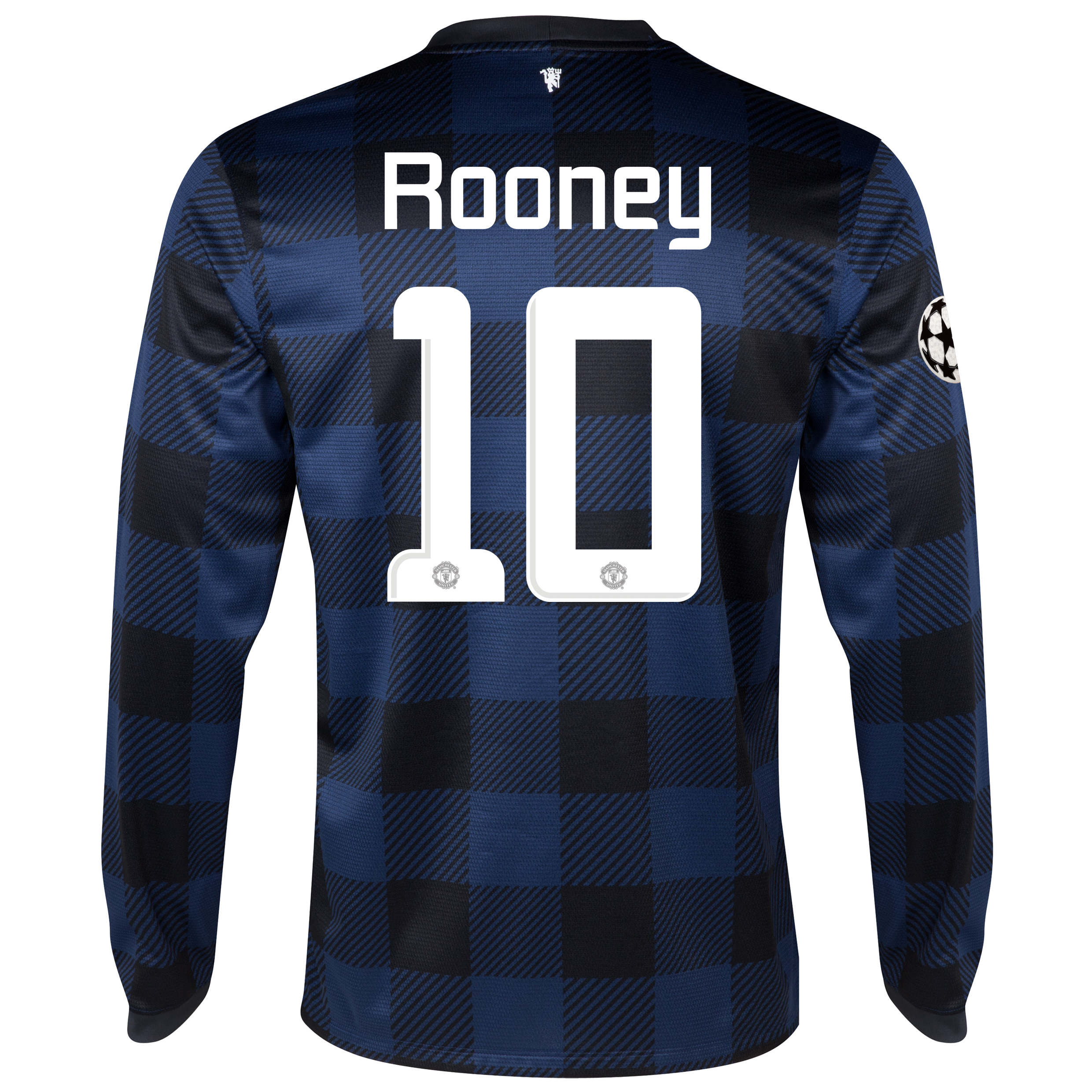 Manchester United UEFA Champions League Away Shirt 2013/14 - Long Sleeved with Rooney 10 printing