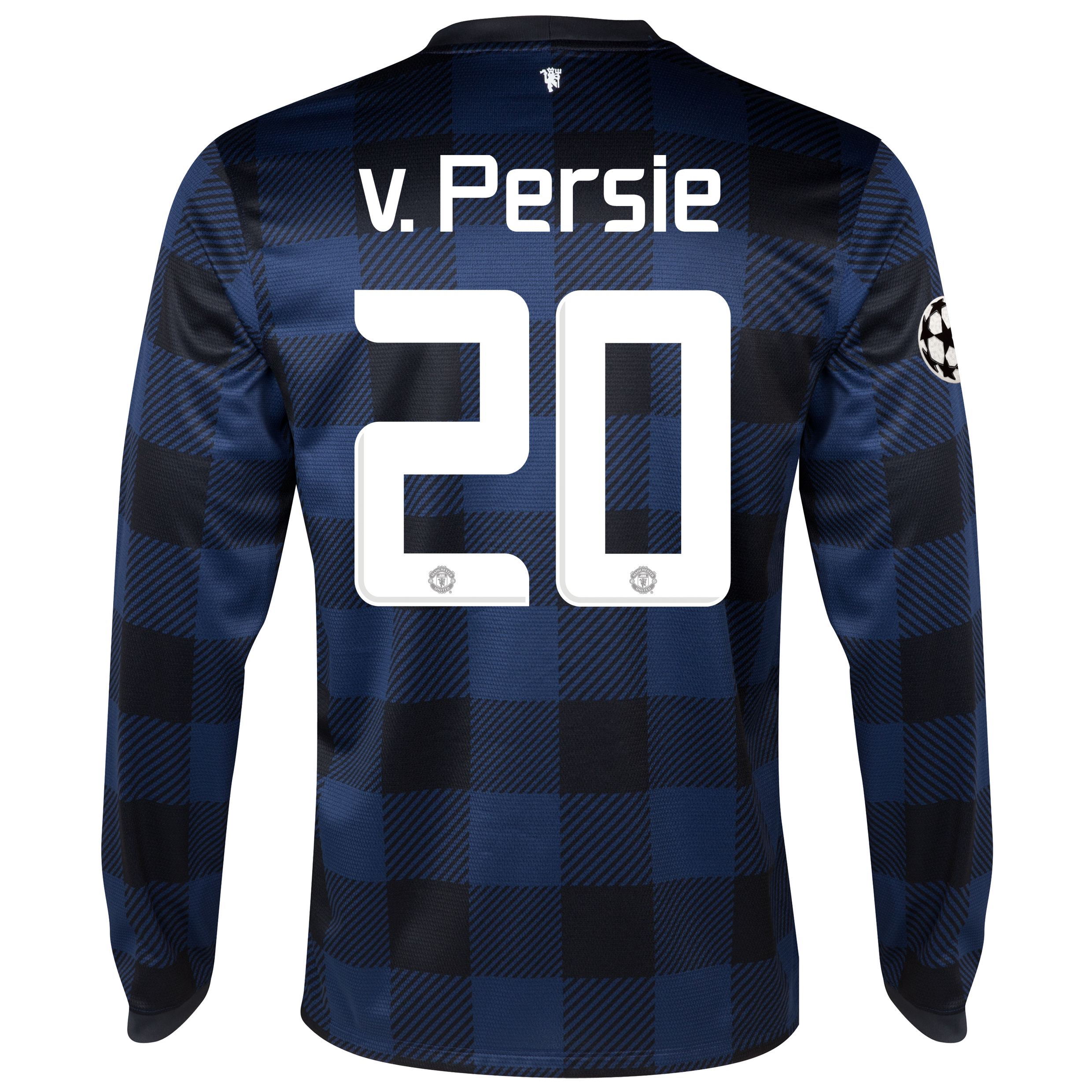 Manchester United UEFA Champions League Away Shirt 2013/14 - Long Sleeved with v.Persie 20 printing