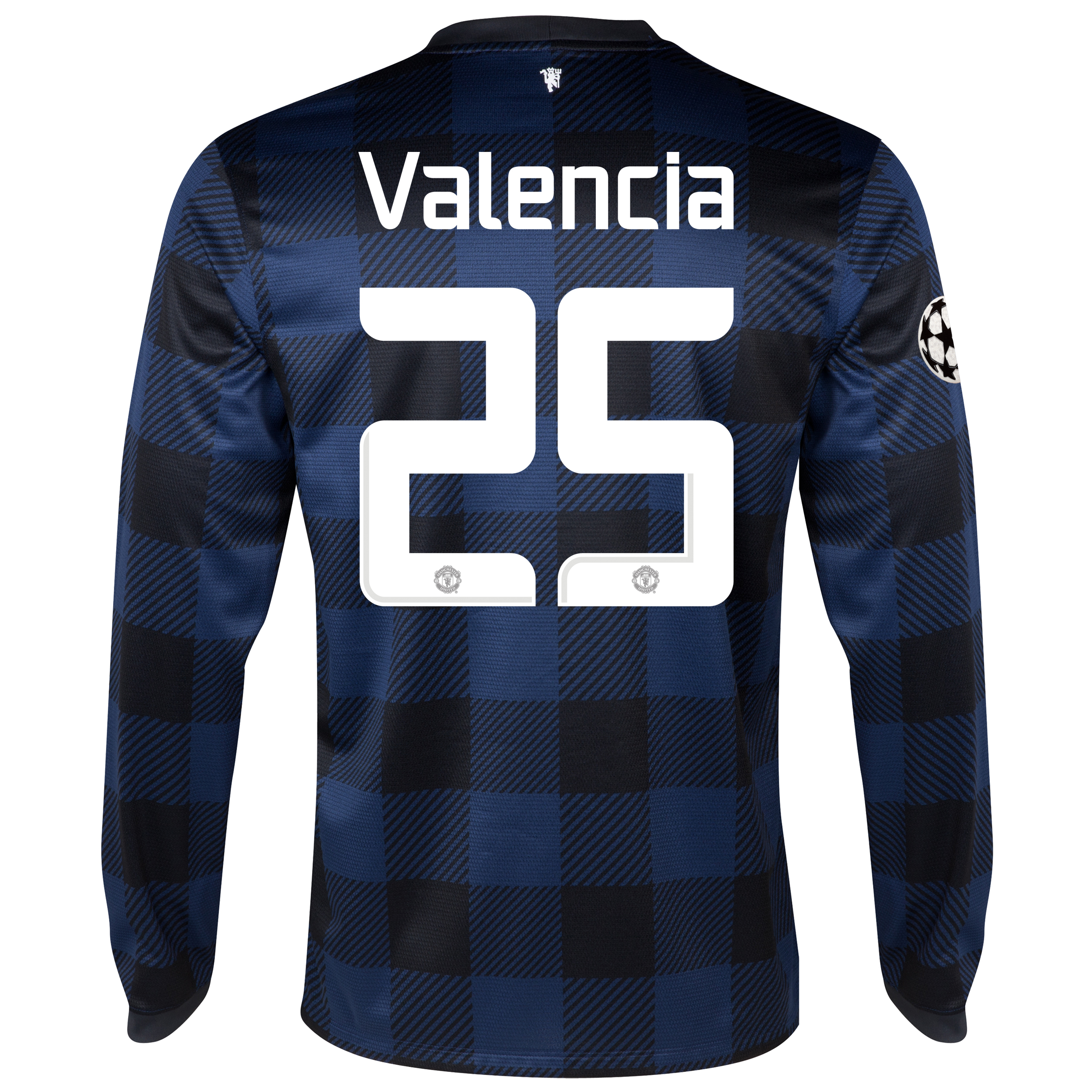 Manchester United UEFA Champions League Away Shirt 2013/14 - Long Sleeved with Valencia 25 printing