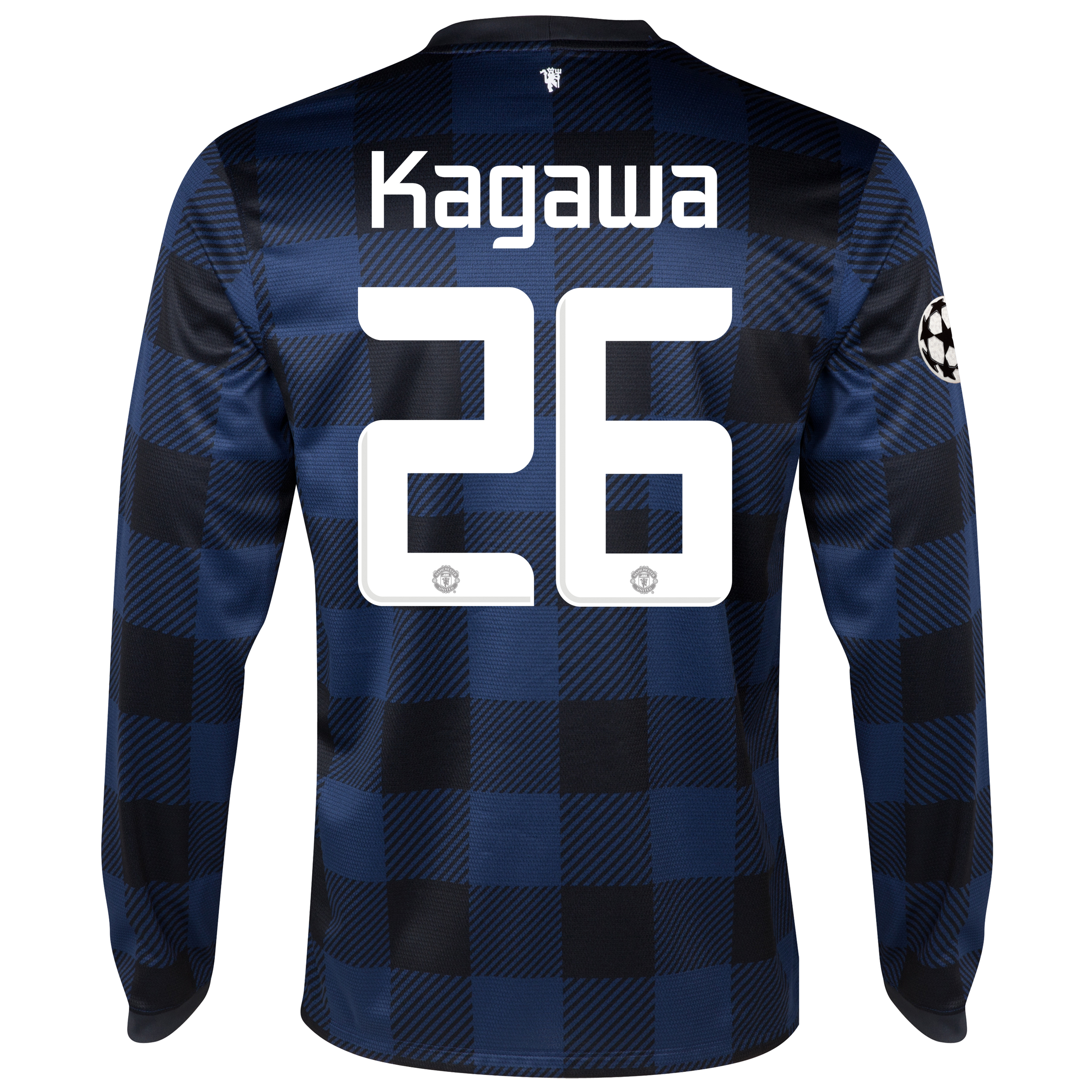 Manchester United UEFA Champions League Away Shirt 2013/14 - Long Sleeved with Kagawa 26 printing