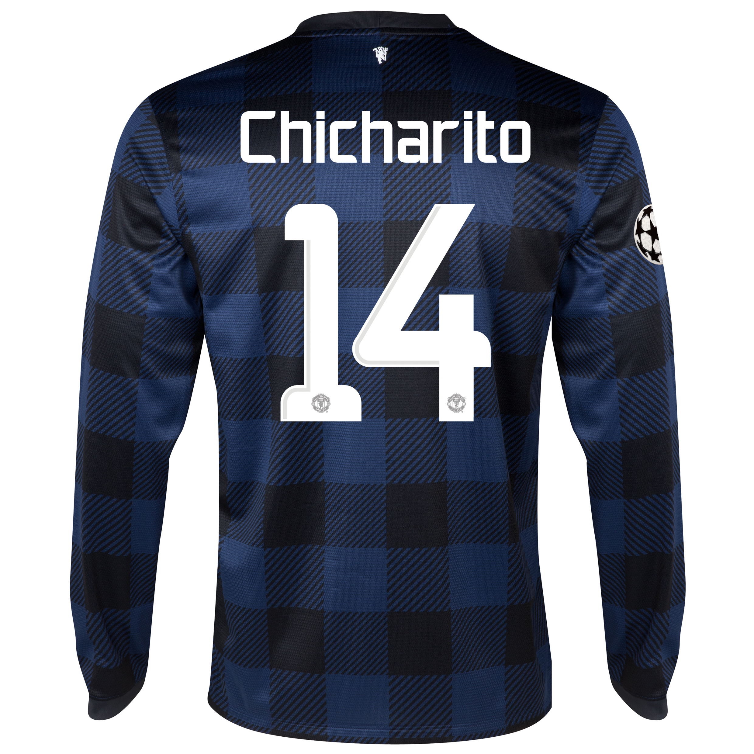 Manchester United UEFA Champions League Away Shirt 2013/14 - Long Sleeved - Kids with Chicharito 14 printing