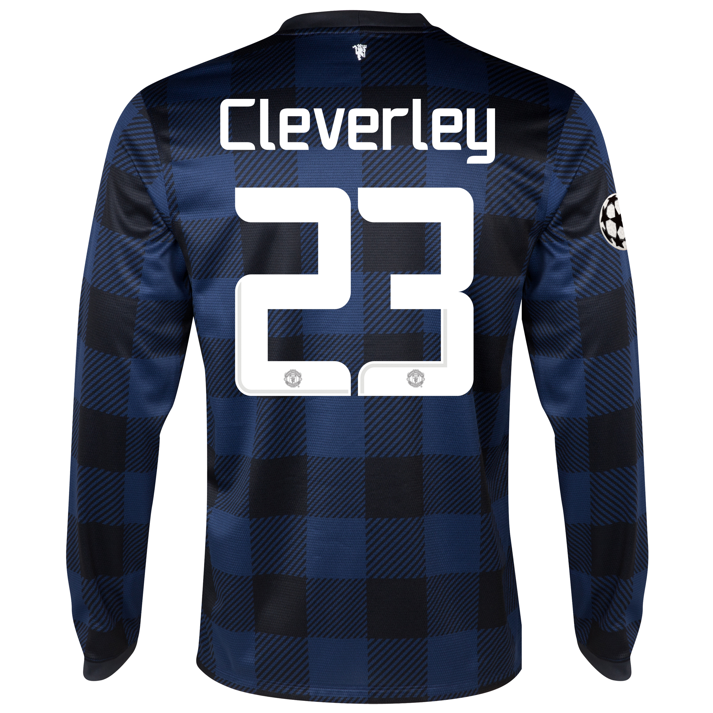 Manchester United UEFA Champions League Away Shirt 2013/14 - Long Sleeved - Kids with Cleverley 23 printing