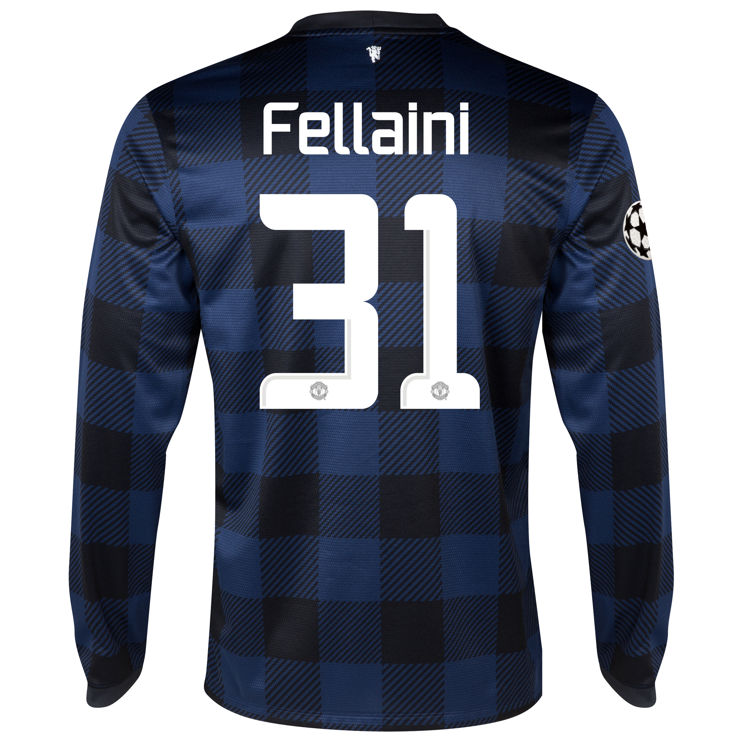 Manchester United UEFA Champions League Away Shirt 2013/14 - Long Sleeved - Kids with Fellaini 31 printing