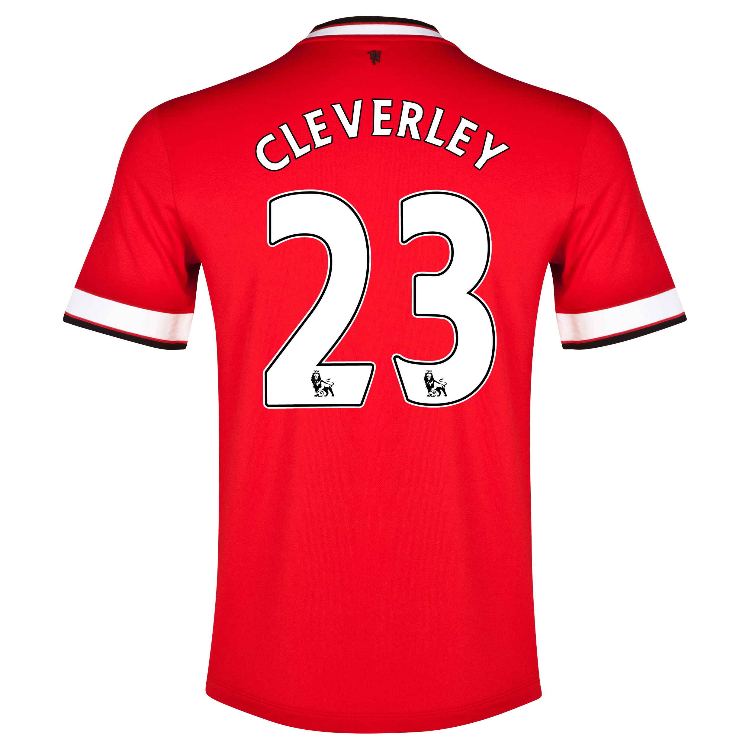 Manchester United Home Shirt 2014/15 Red with Cleverley 23 printing